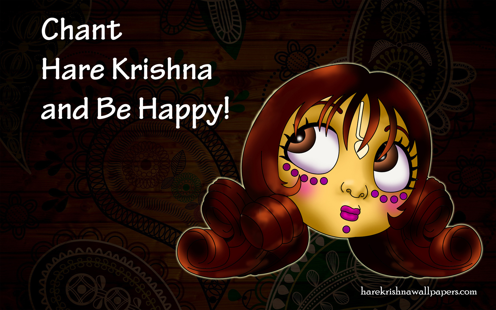 Chant Hare Krishna and be happy Wallpaper (002) Size 1680x1050 Download