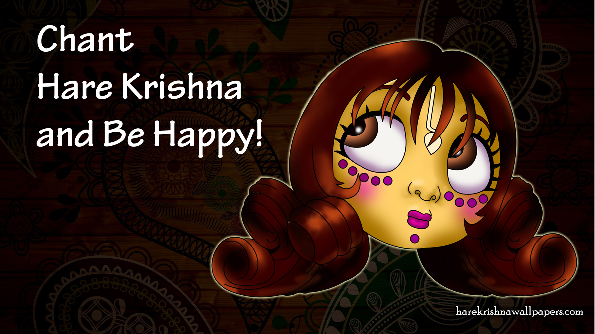 Chant Hare Krishna and be happy Wallpaper (002) Size 1920x1080 Download