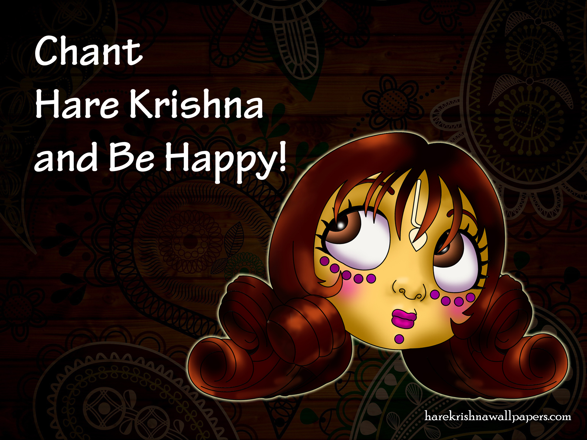 Chant Hare Krishna and be happy Wallpaper (002) Size 1920x1440 Download