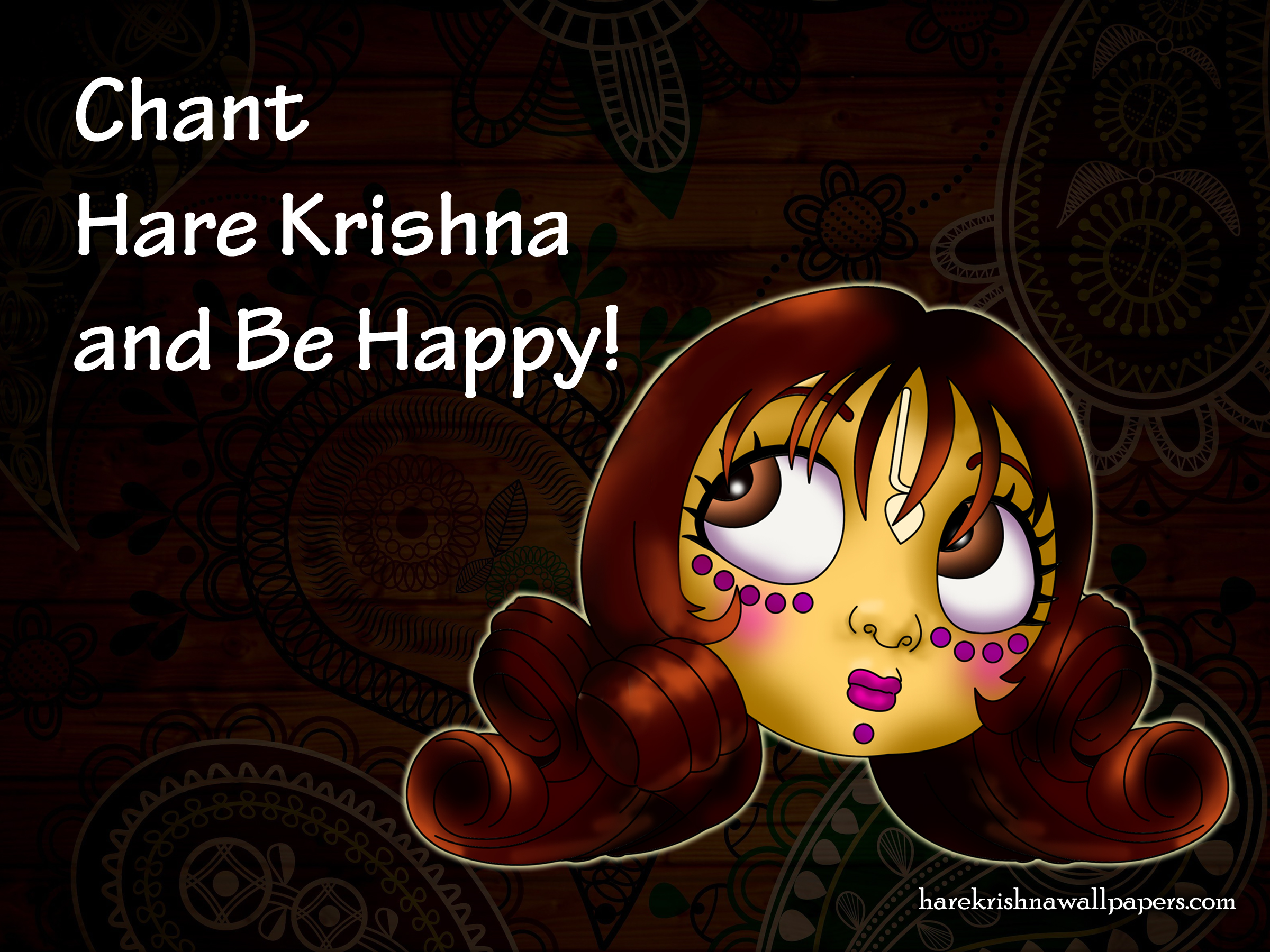 Chant Hare Krishna and be happy Wallpaper (002) Size 2400x1800 Download