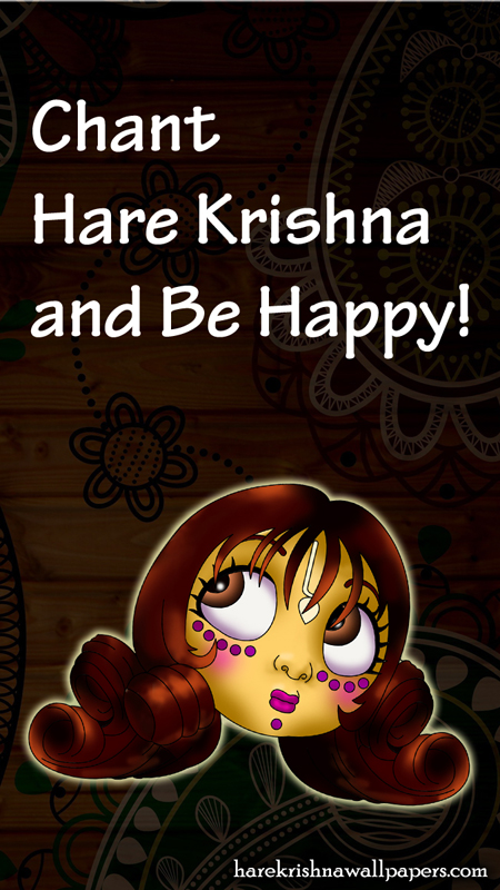 Chant Hare Krishna and be happy Wallpaper (002) Size 450x800 Download