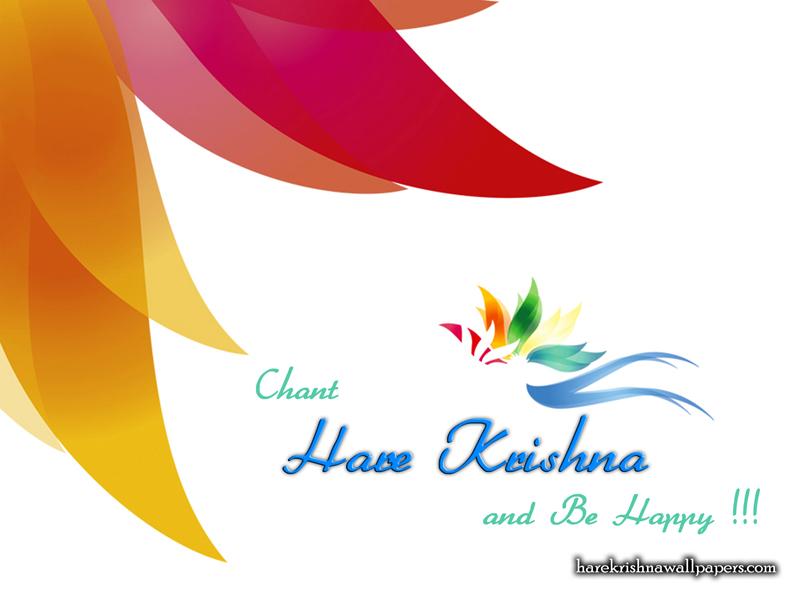 Chant Hare Krishna and be happy Wallpaper (003)