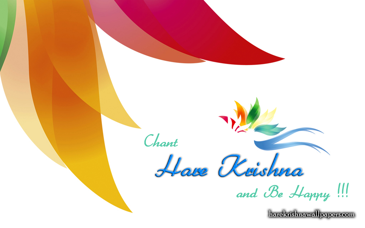 Chant Hare Krishna and be happy Wallpaper (003) Size 1280x800 Download
