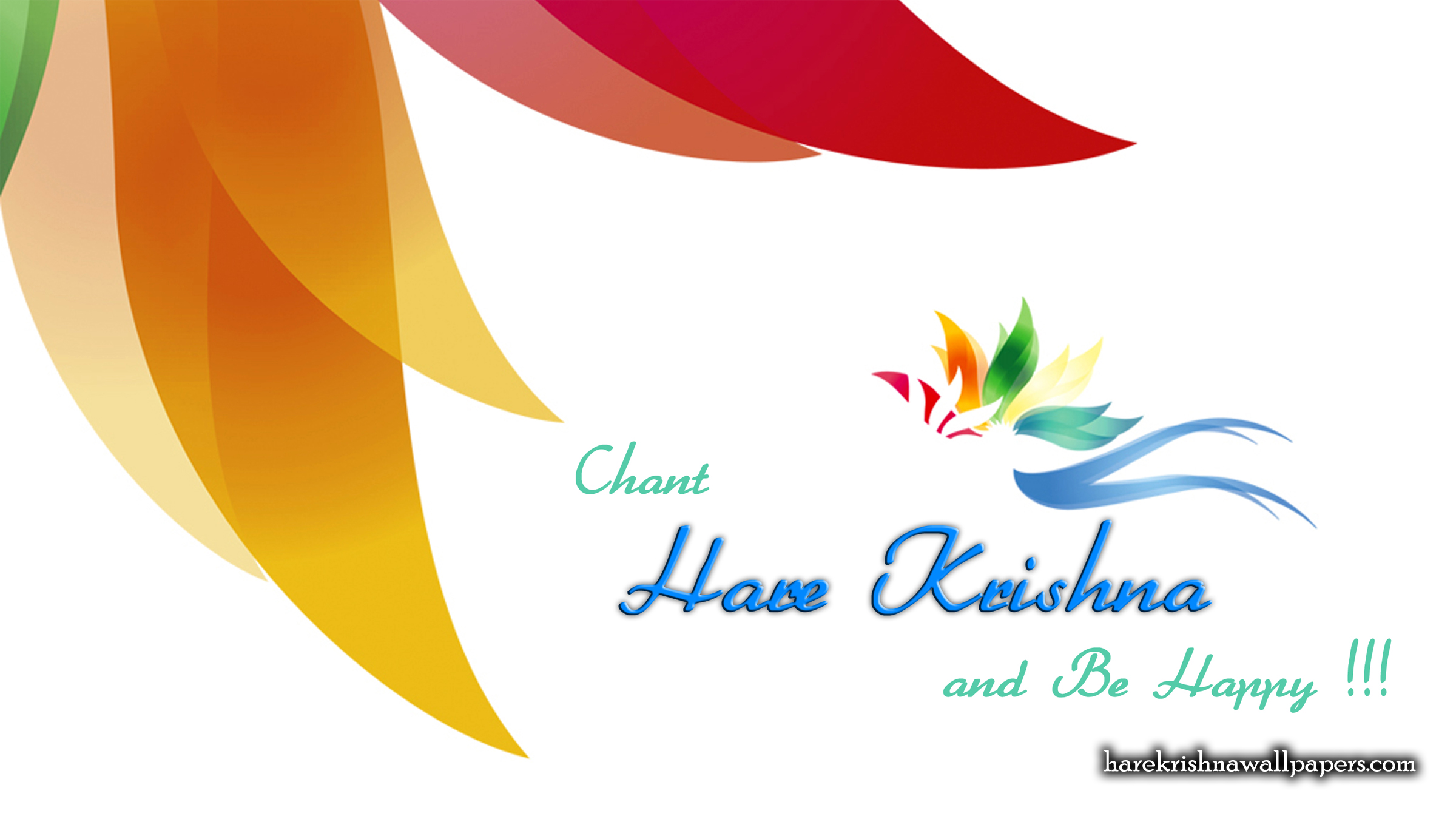 Chant Hare Krishna and be happy Wallpaper (003) Size 2400x1350 Download