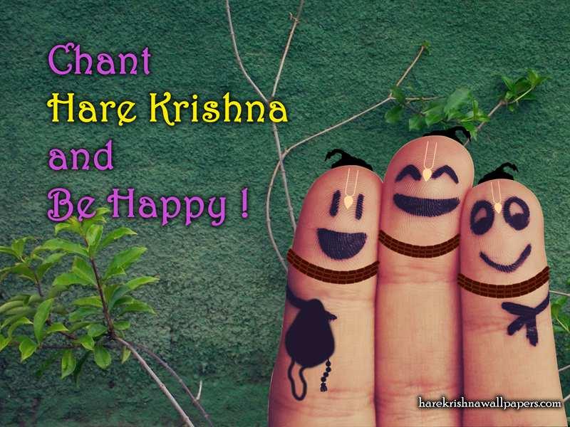 Chant Hare Krishna and be happy Wallpaper (004)