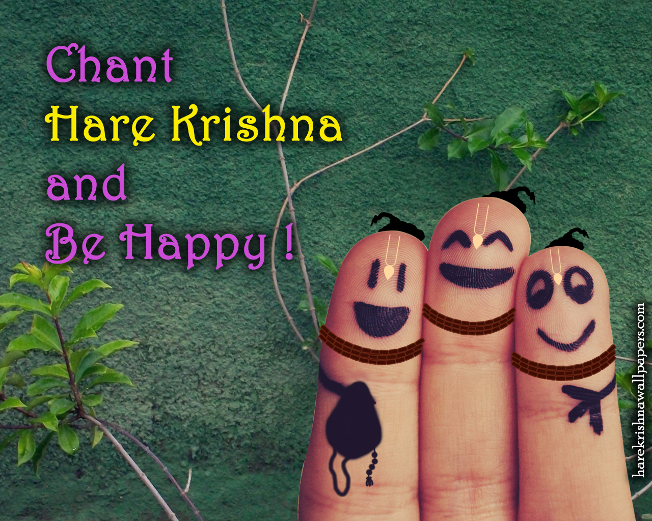 Chant Hare Krishna and be happy Wallpaper (004) Size 1280x1024 Download