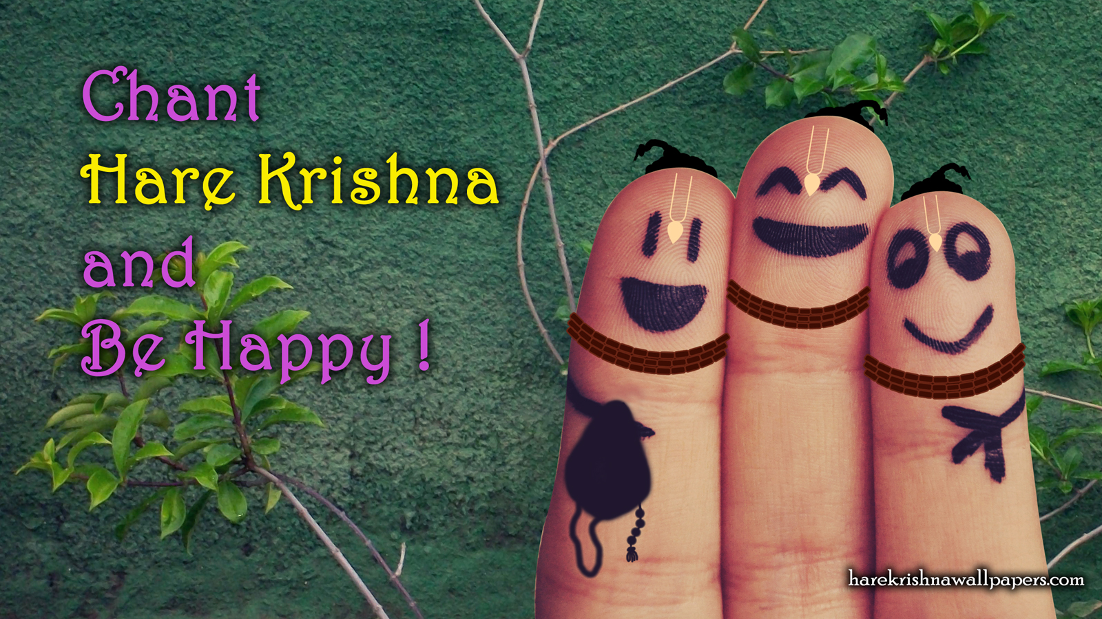 Chant Hare Krishna and be happy Wallpaper (004) Size 1600x900 Download