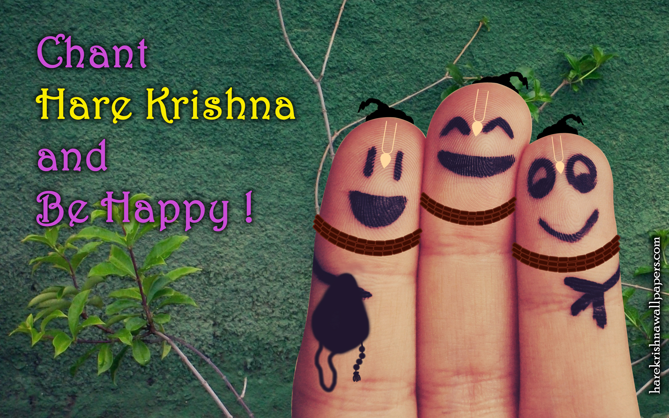 Chant Hare Krishna and be happy Wallpaper (004) Size 2560x1600 Download