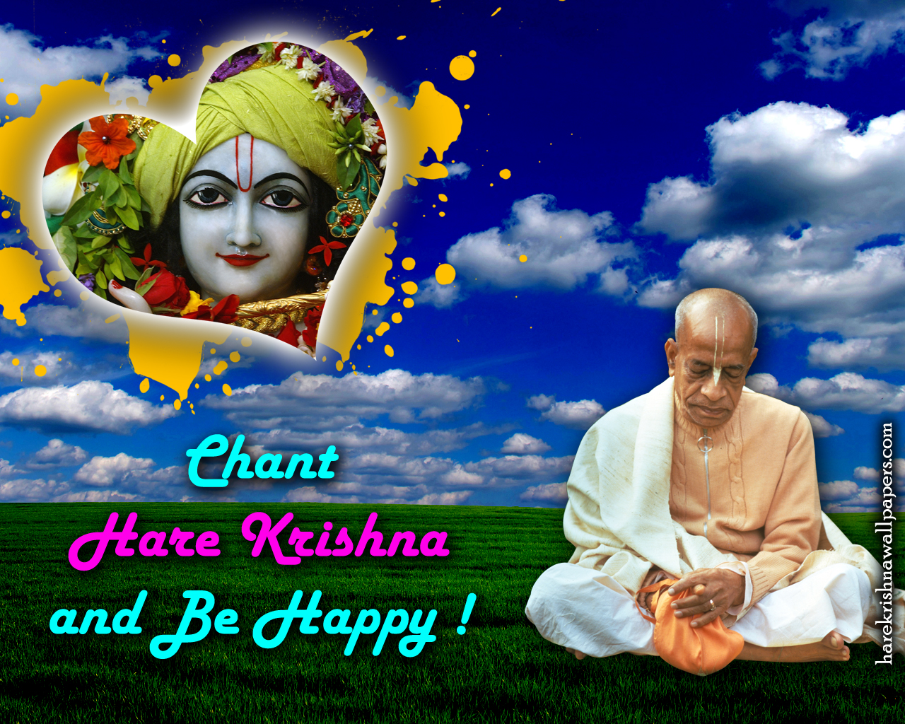 Chant Hare Krishna and be happy Wallpaper (005) Size 1280x1024 Download