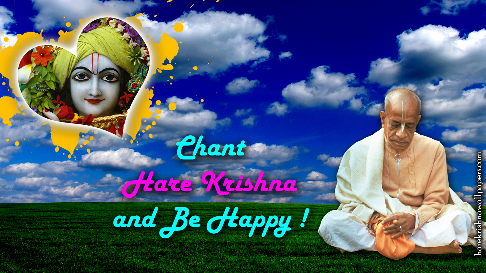 Chant Hare Krishna and be happy Wallpaper (005) Size 1600x900 Download