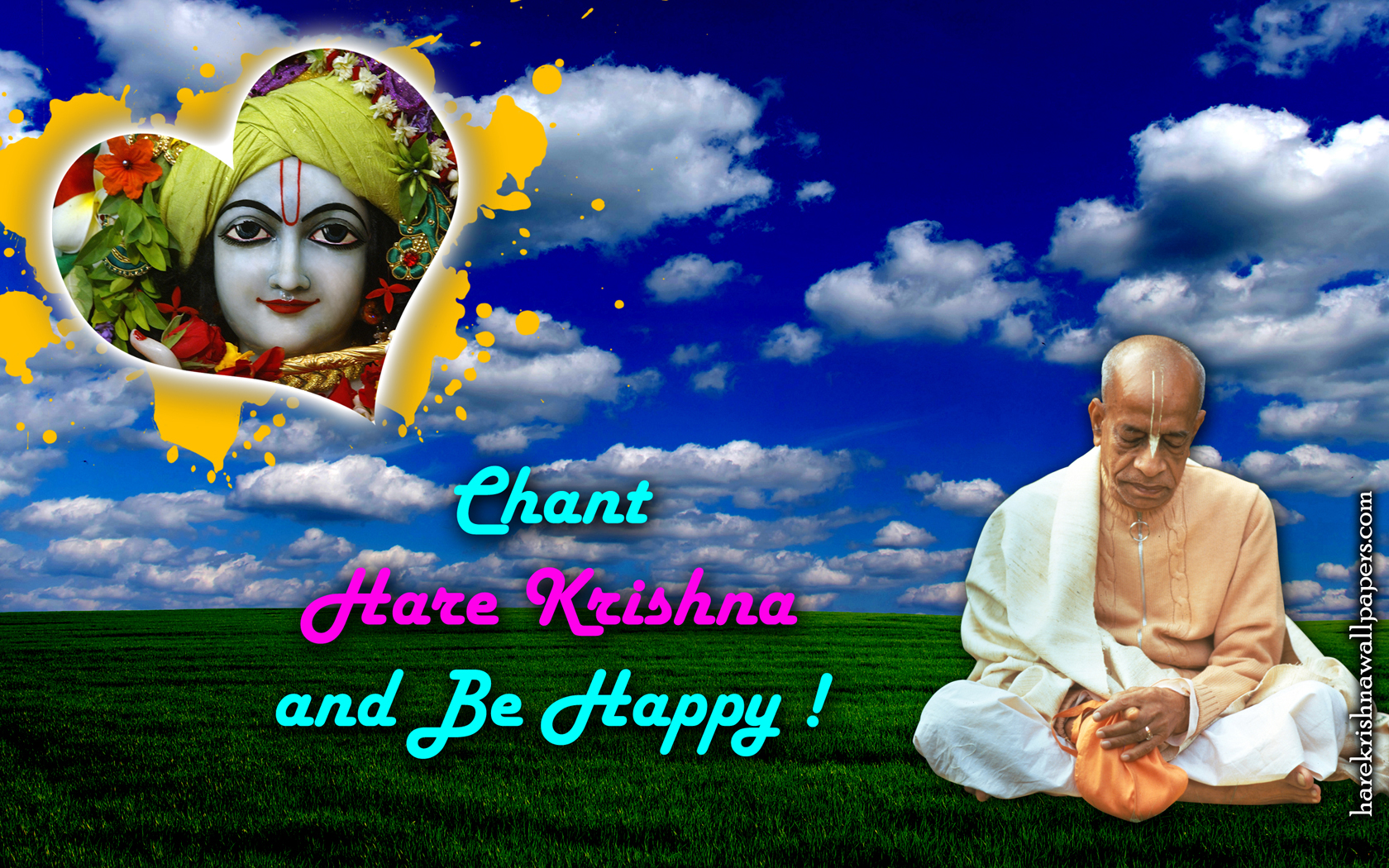 Chant Hare Krishna and be happy Wallpaper (005) Size 1680x1050 Download