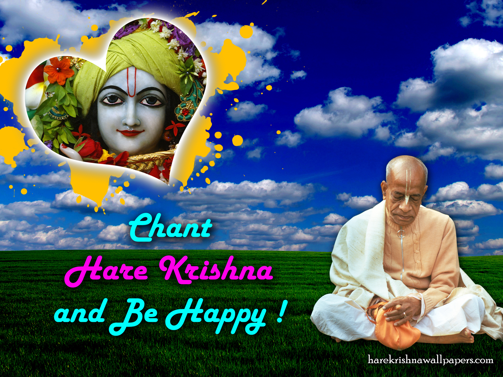 Chant Hare Krishna and be happy Wallpaper (005) Size 1920x1440 Download