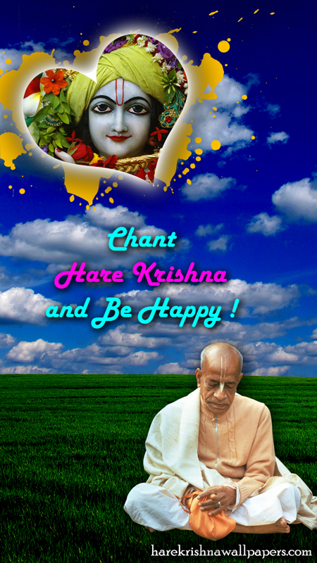 Chant Hare Krishna and be happy Wallpaper (005) Size 450x800 Download