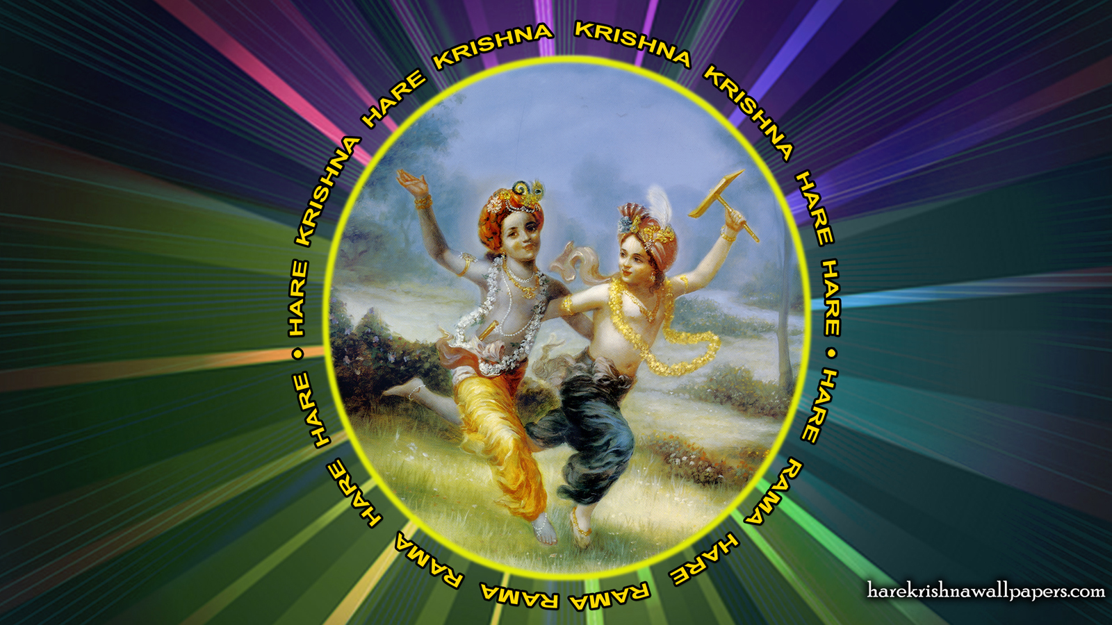 Chant Hare Krishna Mahamantra Wallpaper (001) Size 1600x900 Download