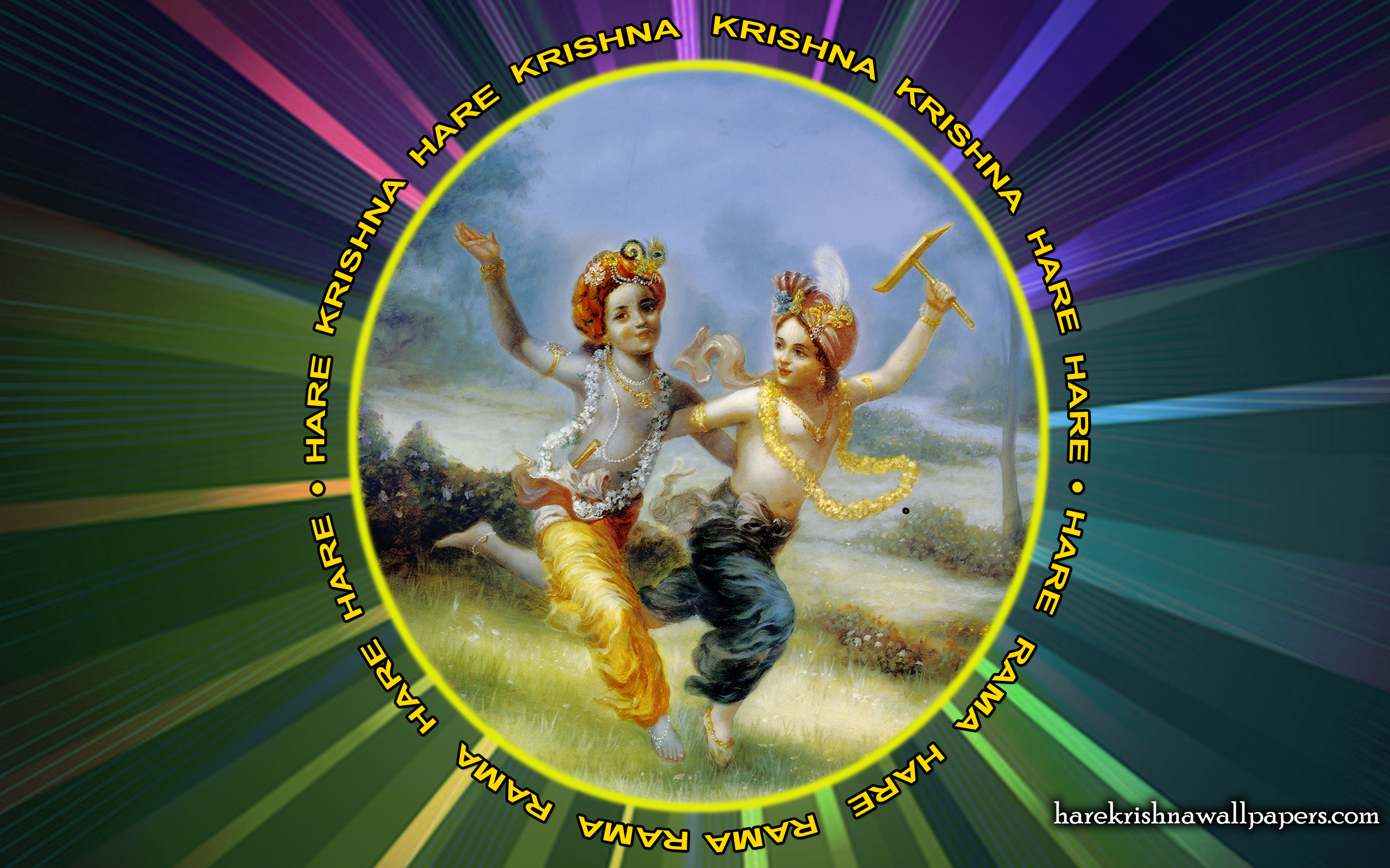 Chant Hare Krishna Mahamantra Wallpaper (001) Size 2560x1600 Download