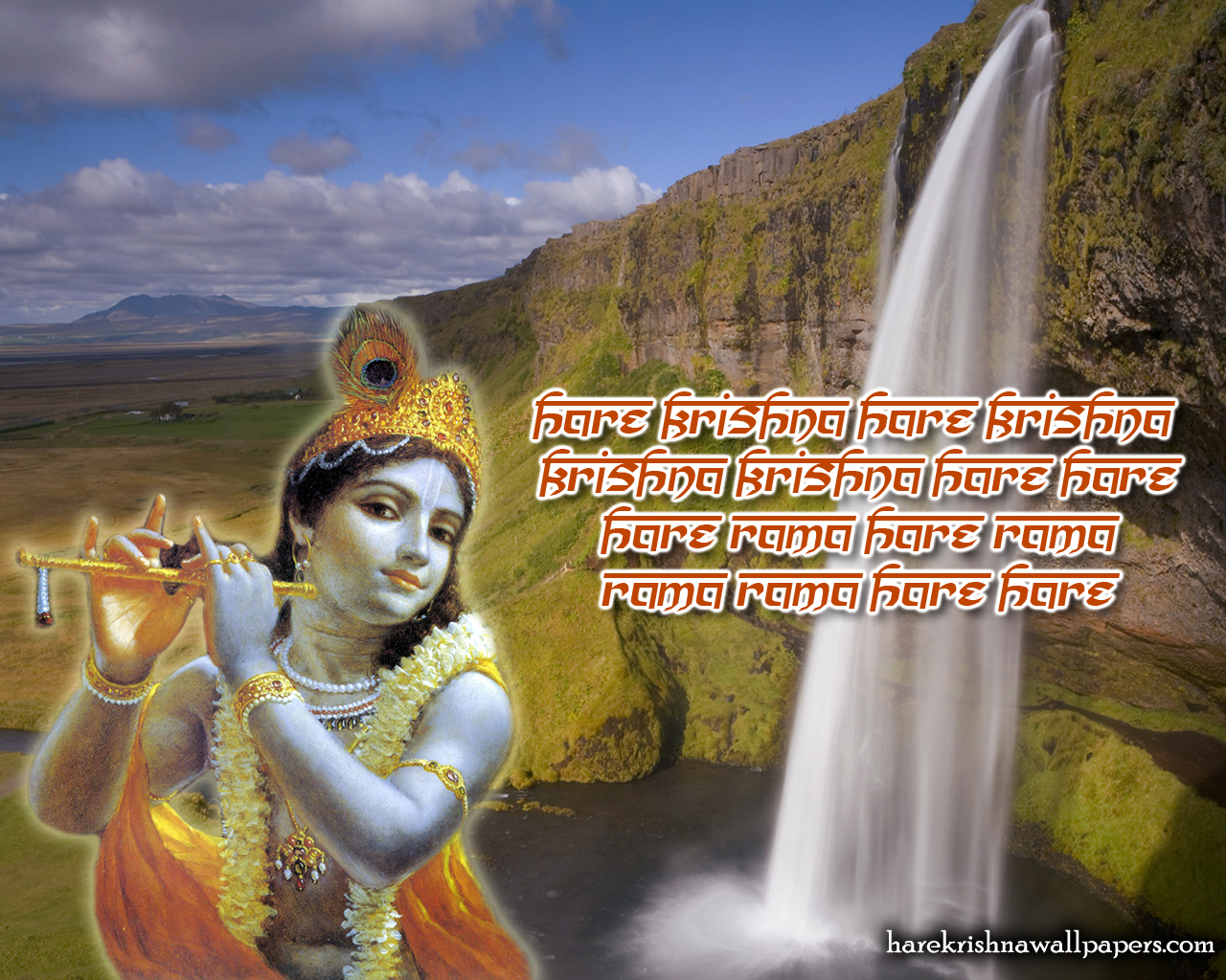 Chant Hare Krishna Mahamantra Wallpaper (002) Size 1280x1024 Download