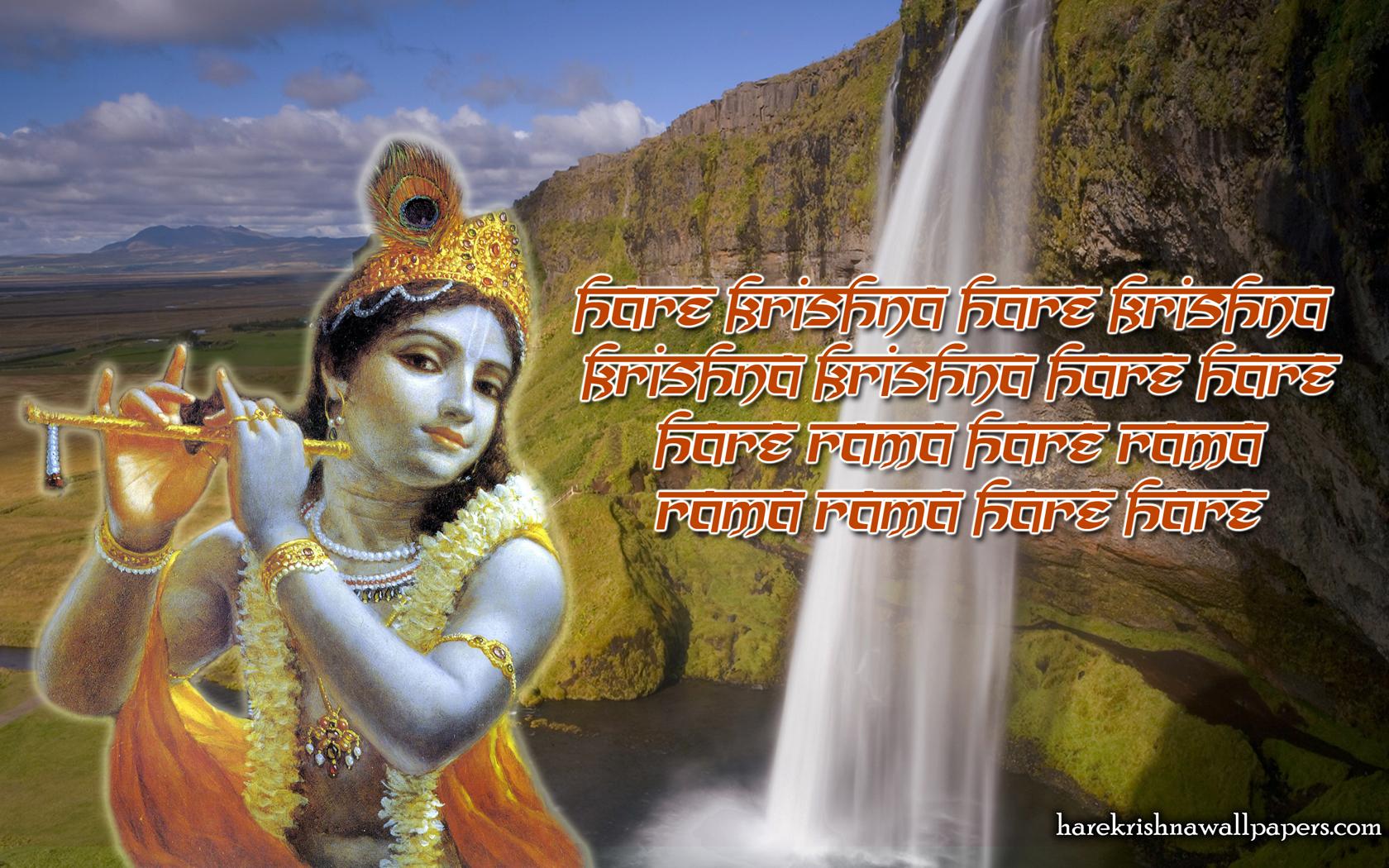 Chant Hare Krishna Mahamantra Wallpaper (002) Size 1680x1050 Download