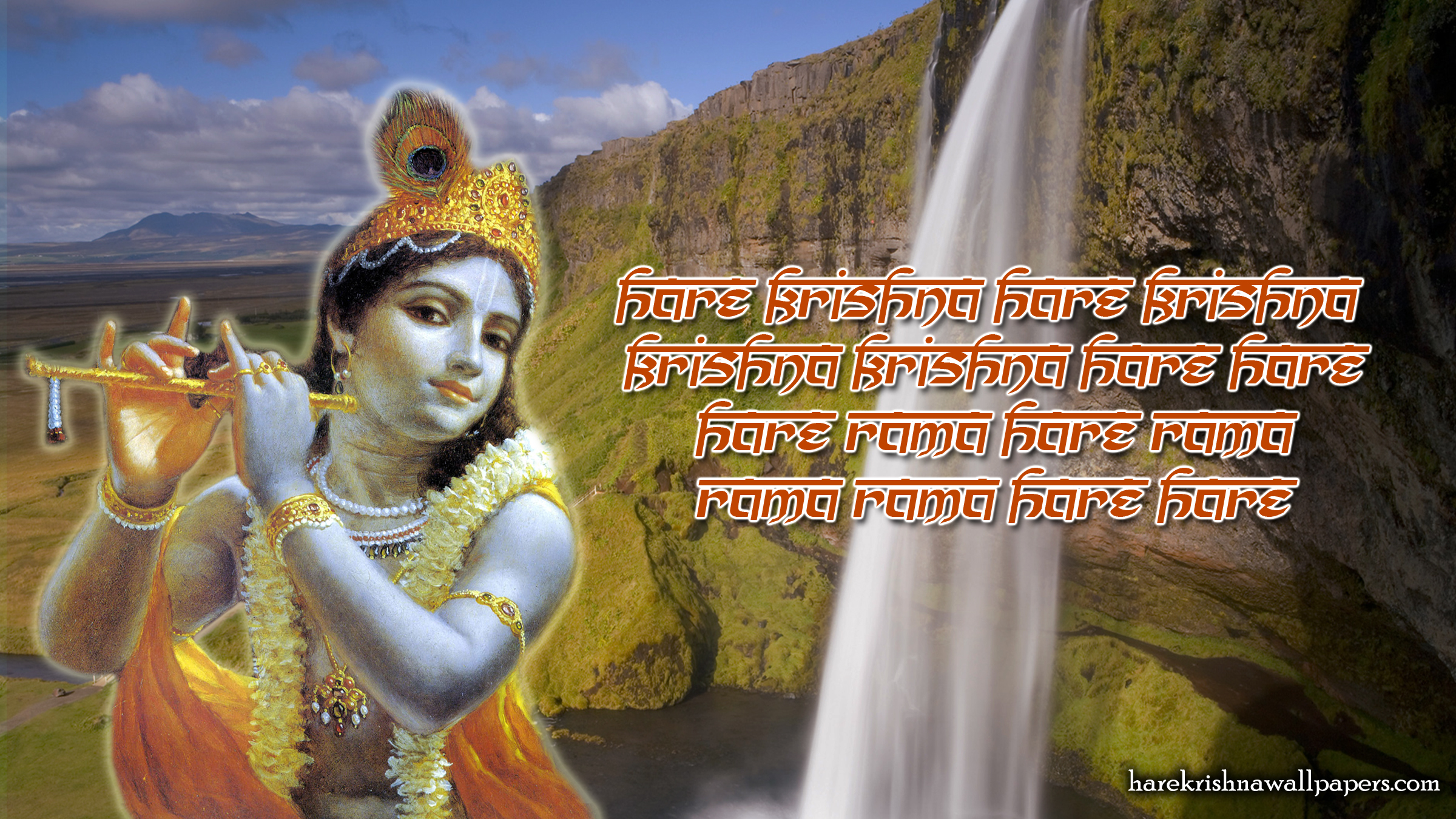 Chant Hare Krishna Mahamantra Wallpaper (002) Size 2400x1350 Download
