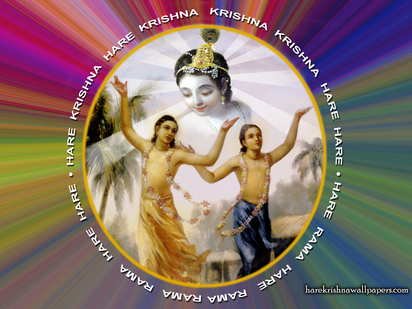 Chant Hare Krishna Mahamantra Wallpaper (004) Size 1400x1050 Download
