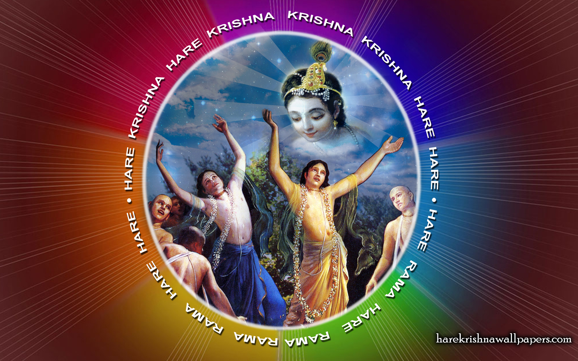 Chant Hare Krishna Mahamantra Wallpaper (005) Size 1920x1200 Download