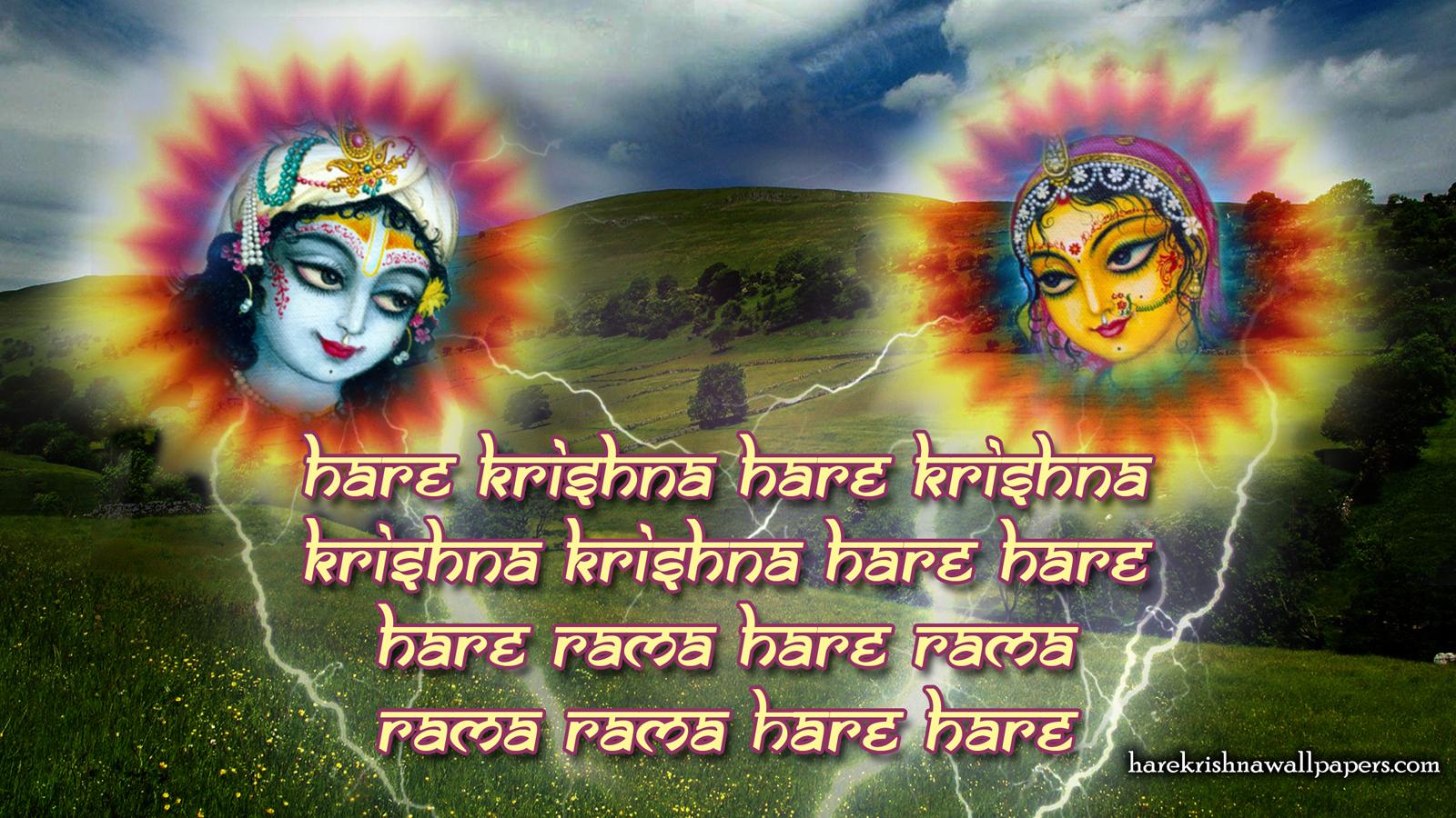 Chant Hare Krishna Mahamantra Wallpaper (006) Size 1600x900 Download