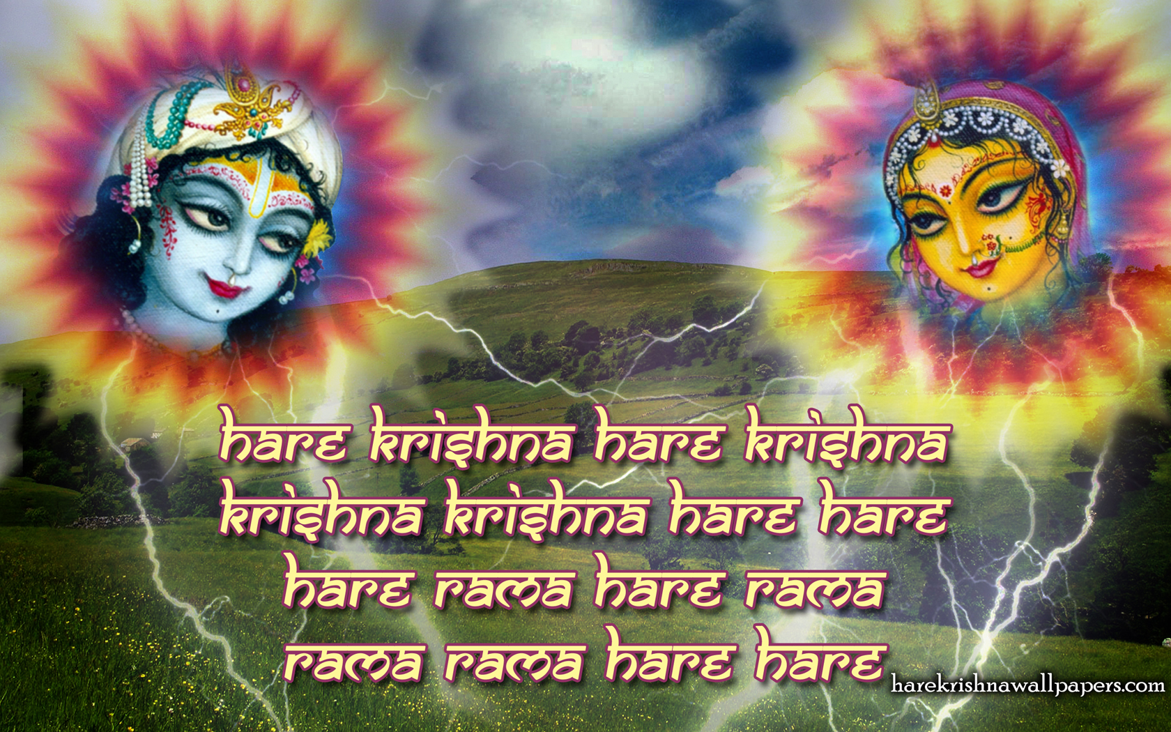Chant Hare Krishna Mahamantra Wallpaper (006) Size 1680x1050 Download