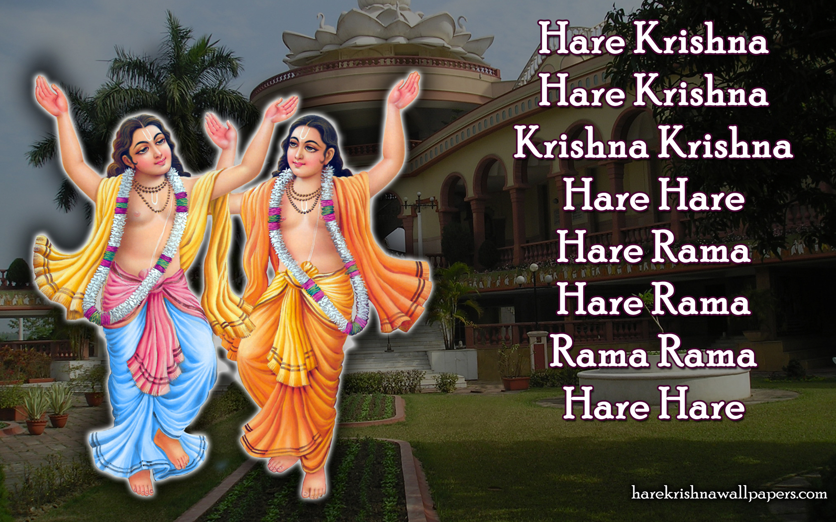 Chant Hare Krishna Mahamantra Wallpaper (007) Size 1680x1050 Download