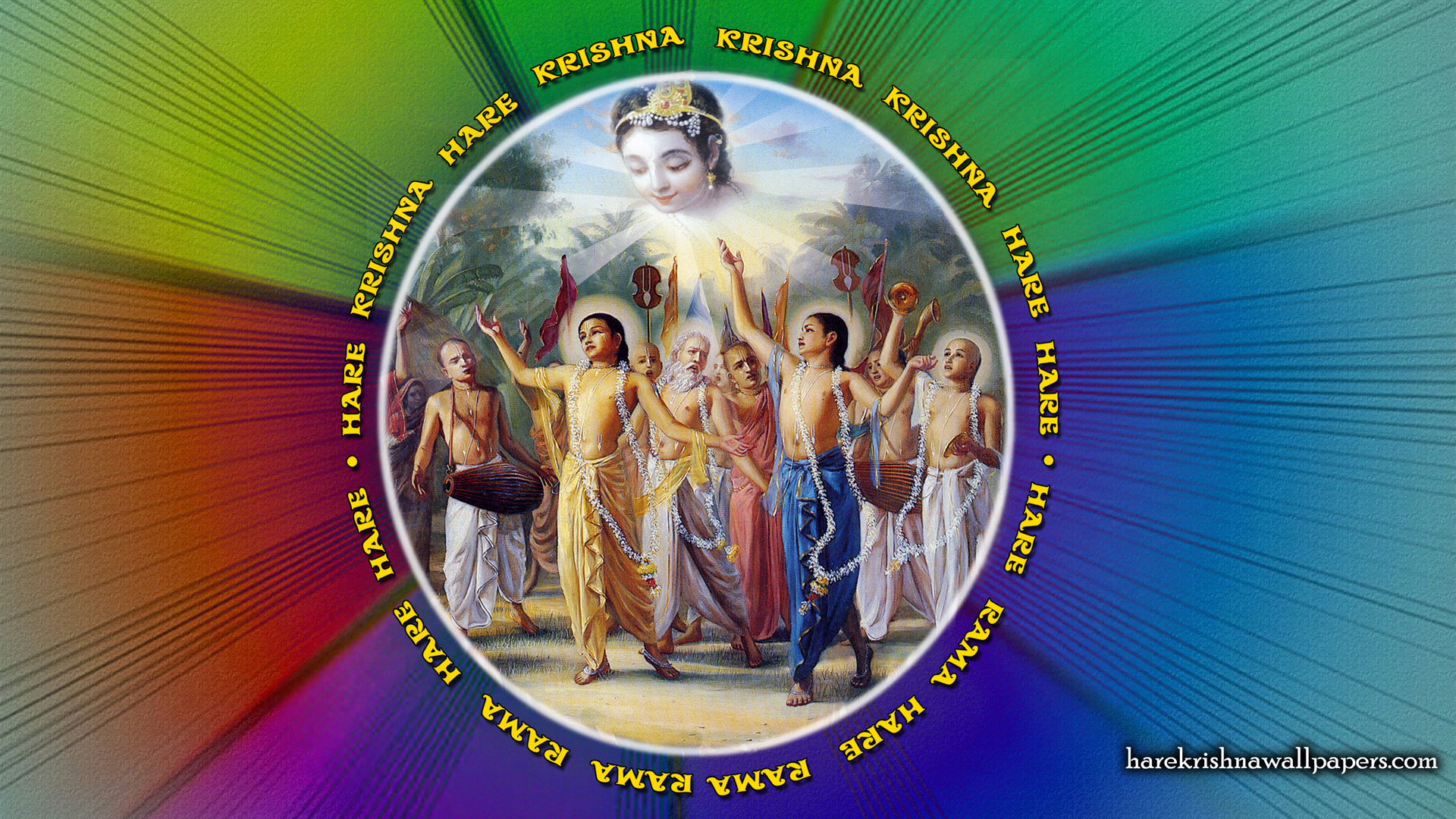 Chant Hare Krishna Mahamantra Wallpaper (008) Size 1920x1080 Download