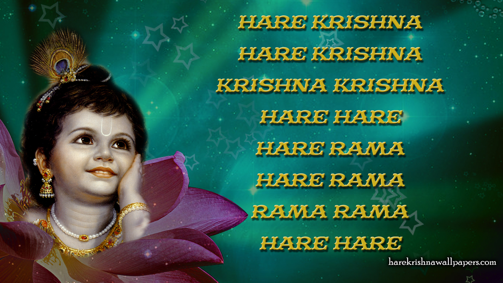 Chant Hare Krishna Mahamantra Wallpaper (011) Size 1920x1080 Download