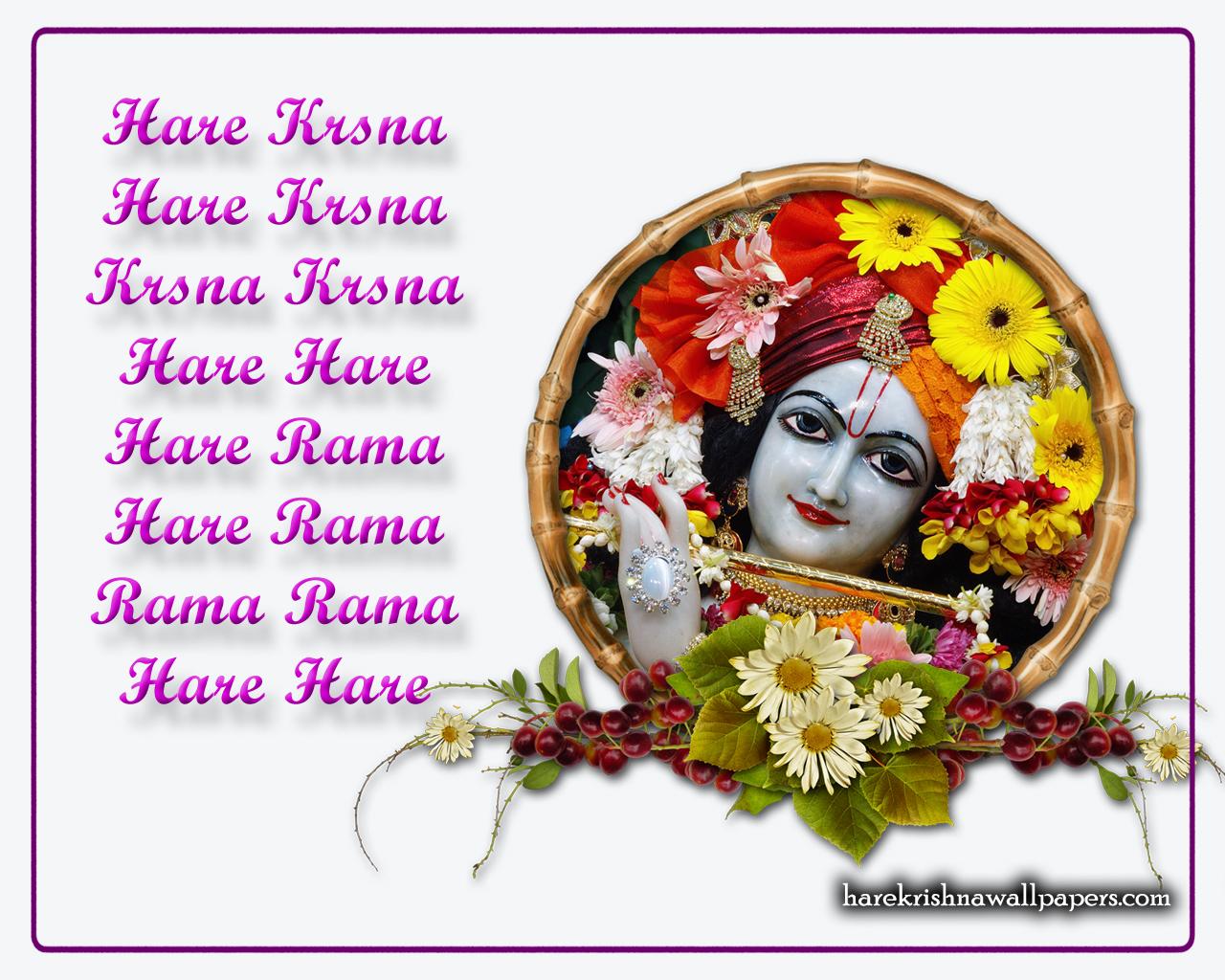 Chant Hare Krishna Mahamantra Wallpaper (015) Size 1280x1024 Download