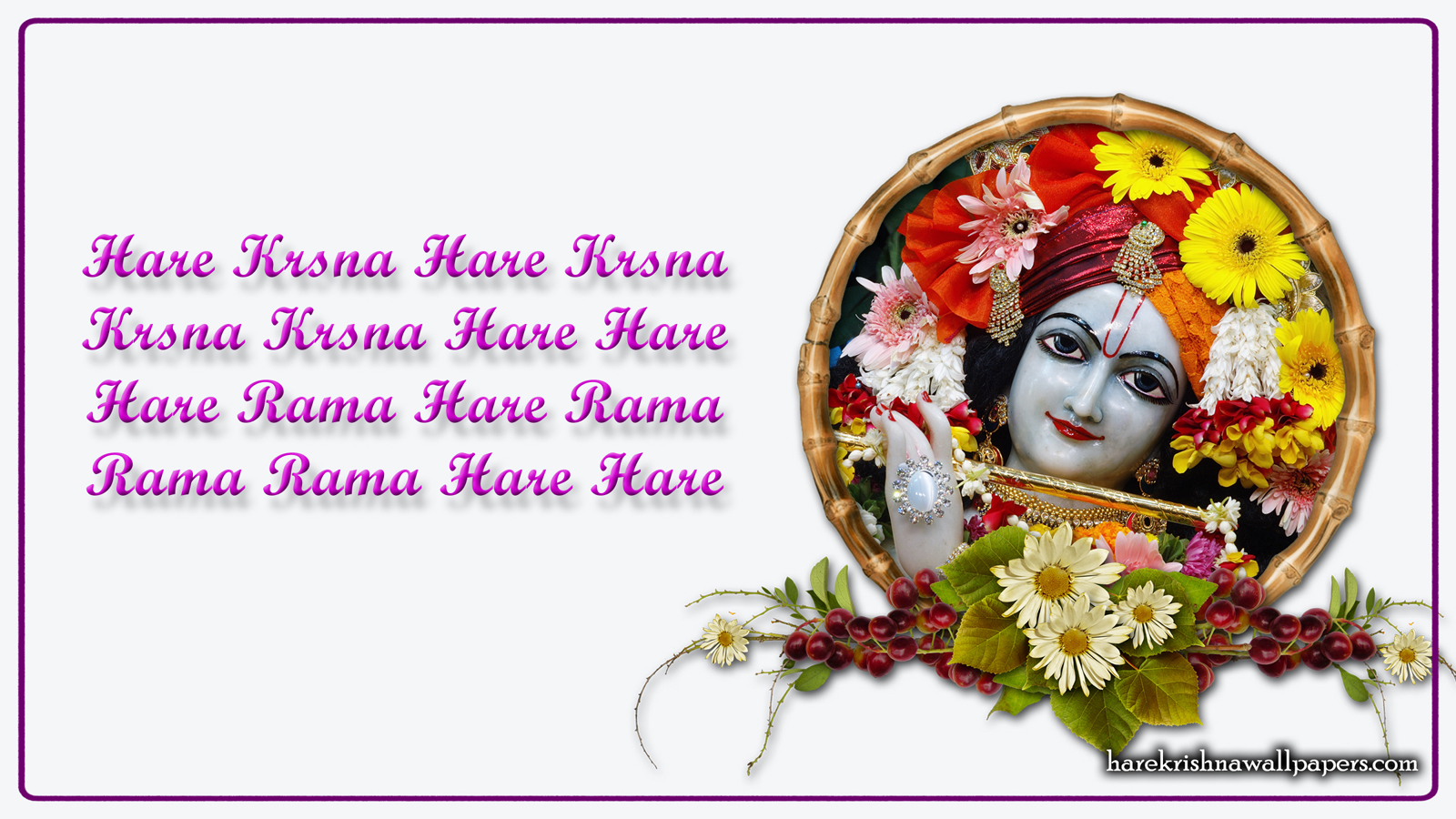 Chant Hare Krishna Mahamantra Wallpaper (015) Size 1600x900 Download