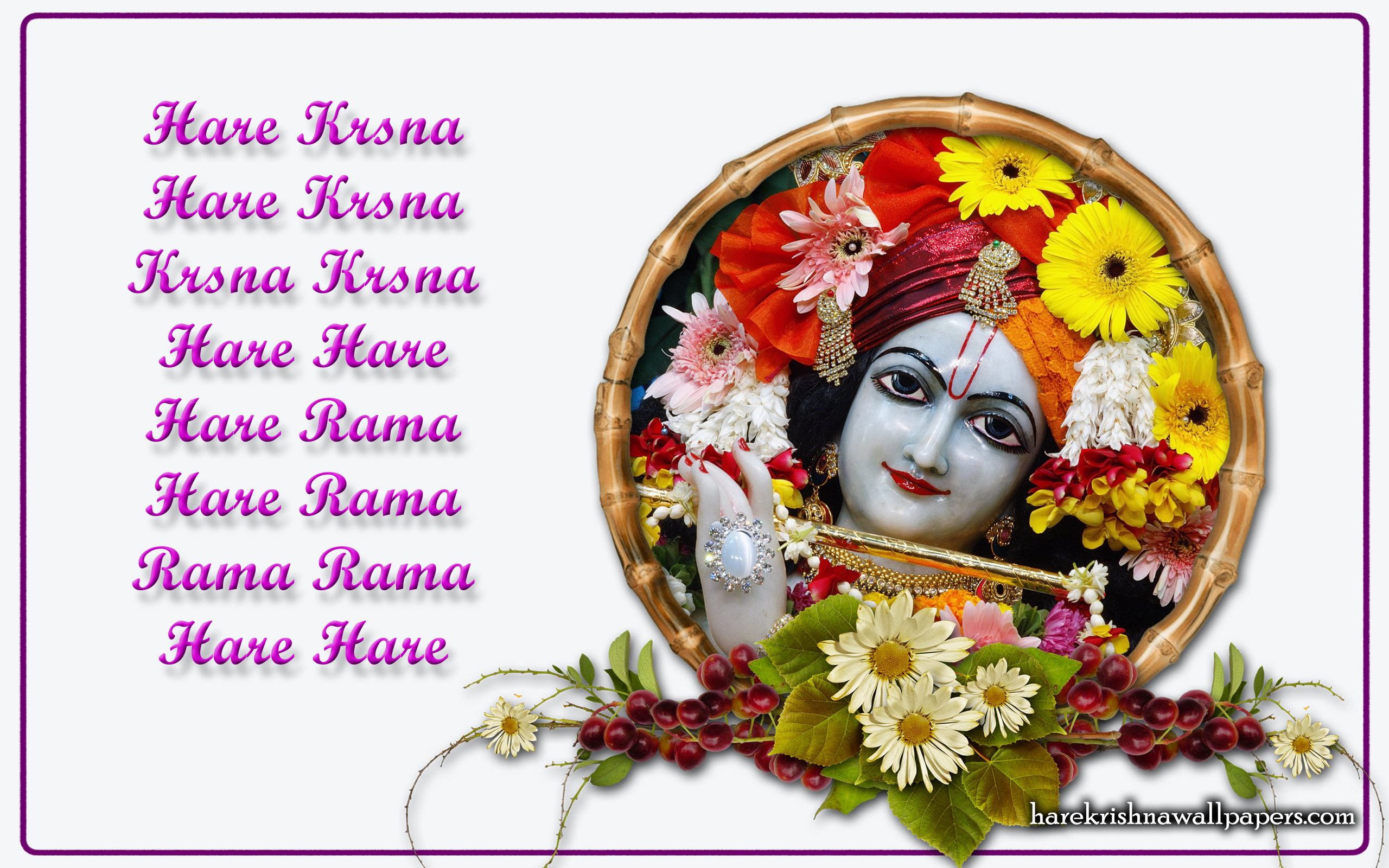 Chant Hare Krishna Mahamantra Wallpaper (015) Size 2560x1600 Download