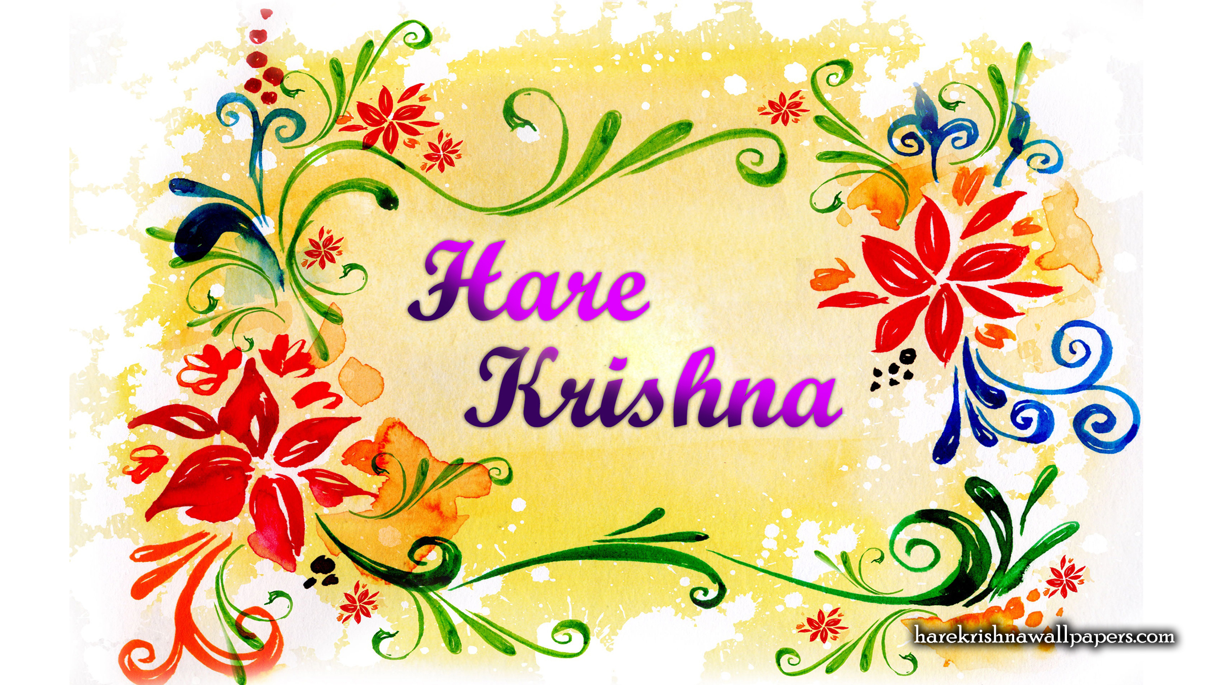 Hare Krishna Wallpaper (004) Size 2400x1350 Download