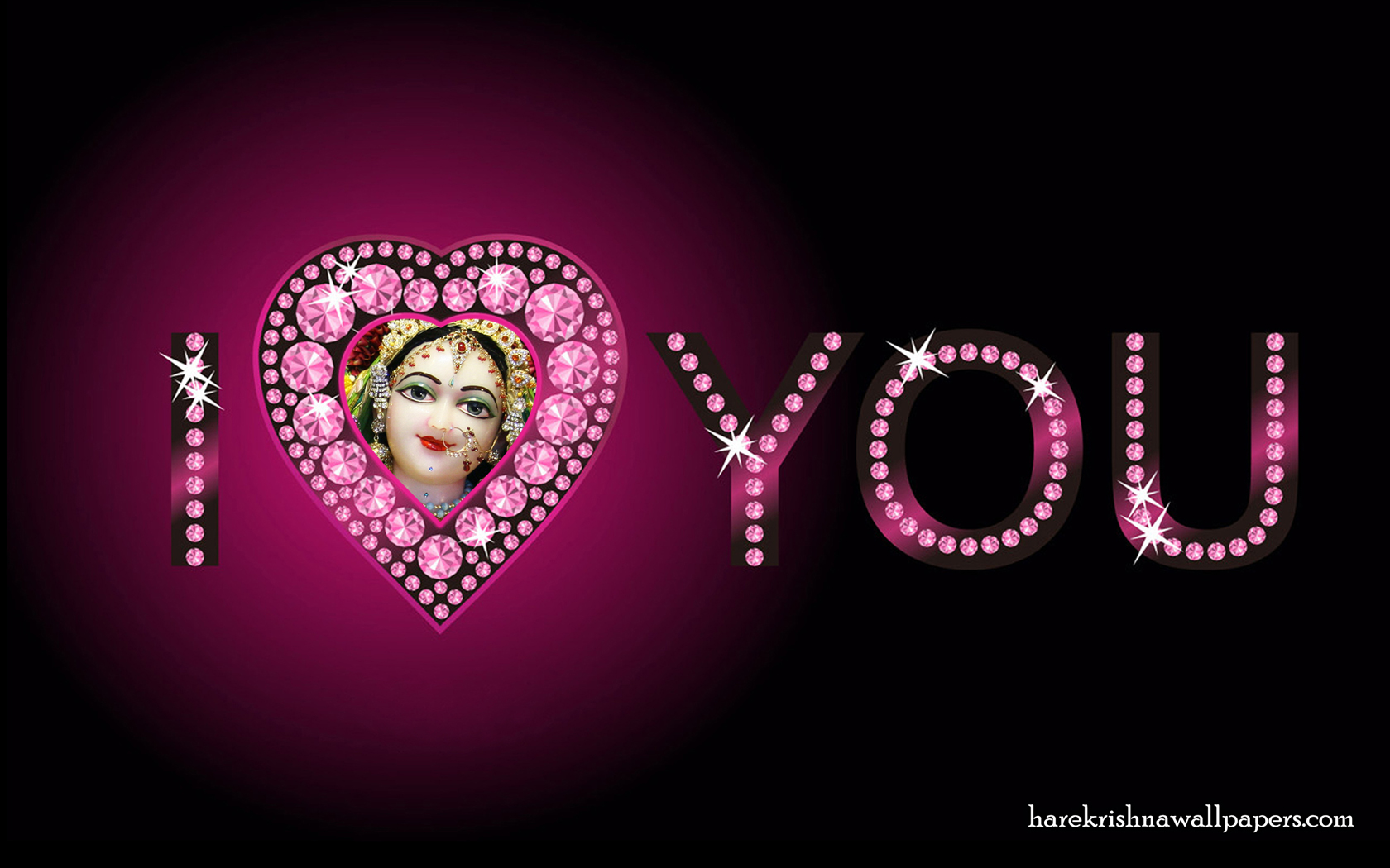 I Love You Radharani Wallpaper (015) Size 1680x1050 Download