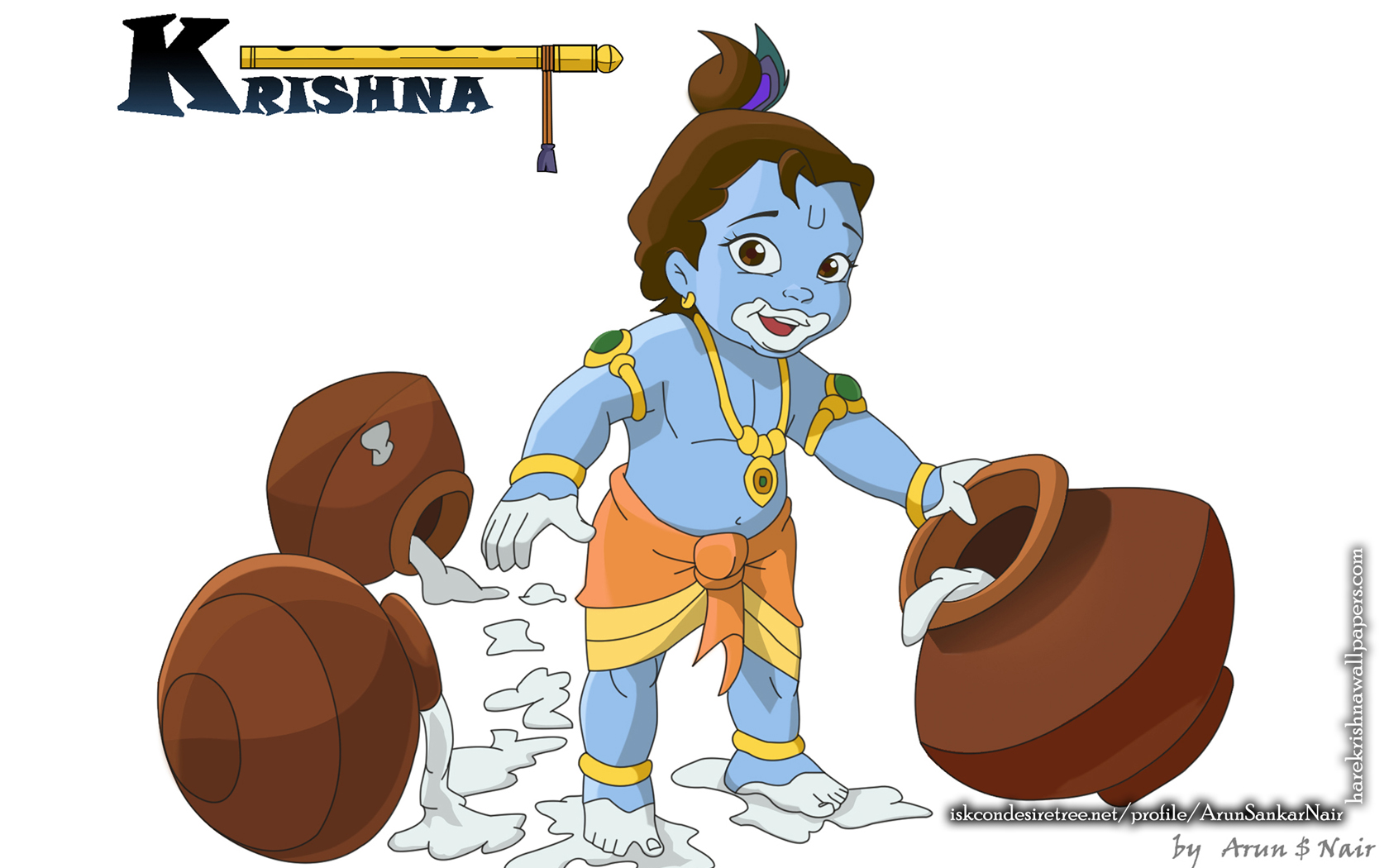 Krishna Wallpaper (017) Size 1680x1050 Download