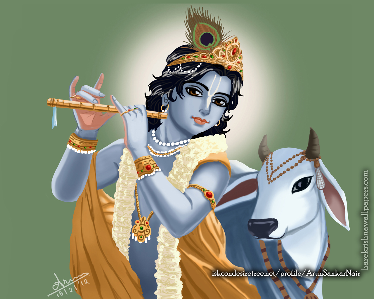 Krishna Wallpaper (018) Size 1280x1024 Download