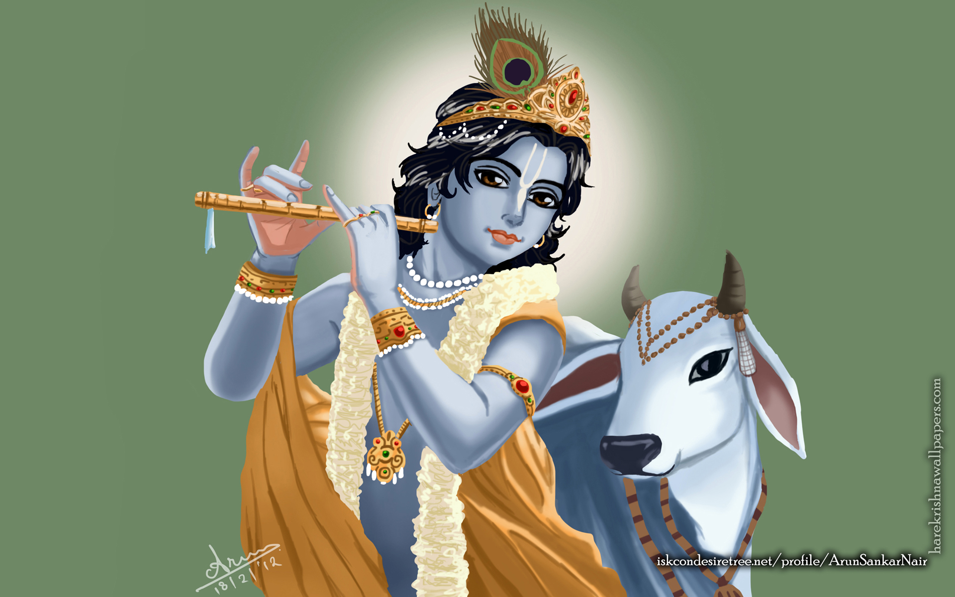 Krishna Wallpaper (018) Size 1920x1200 Download