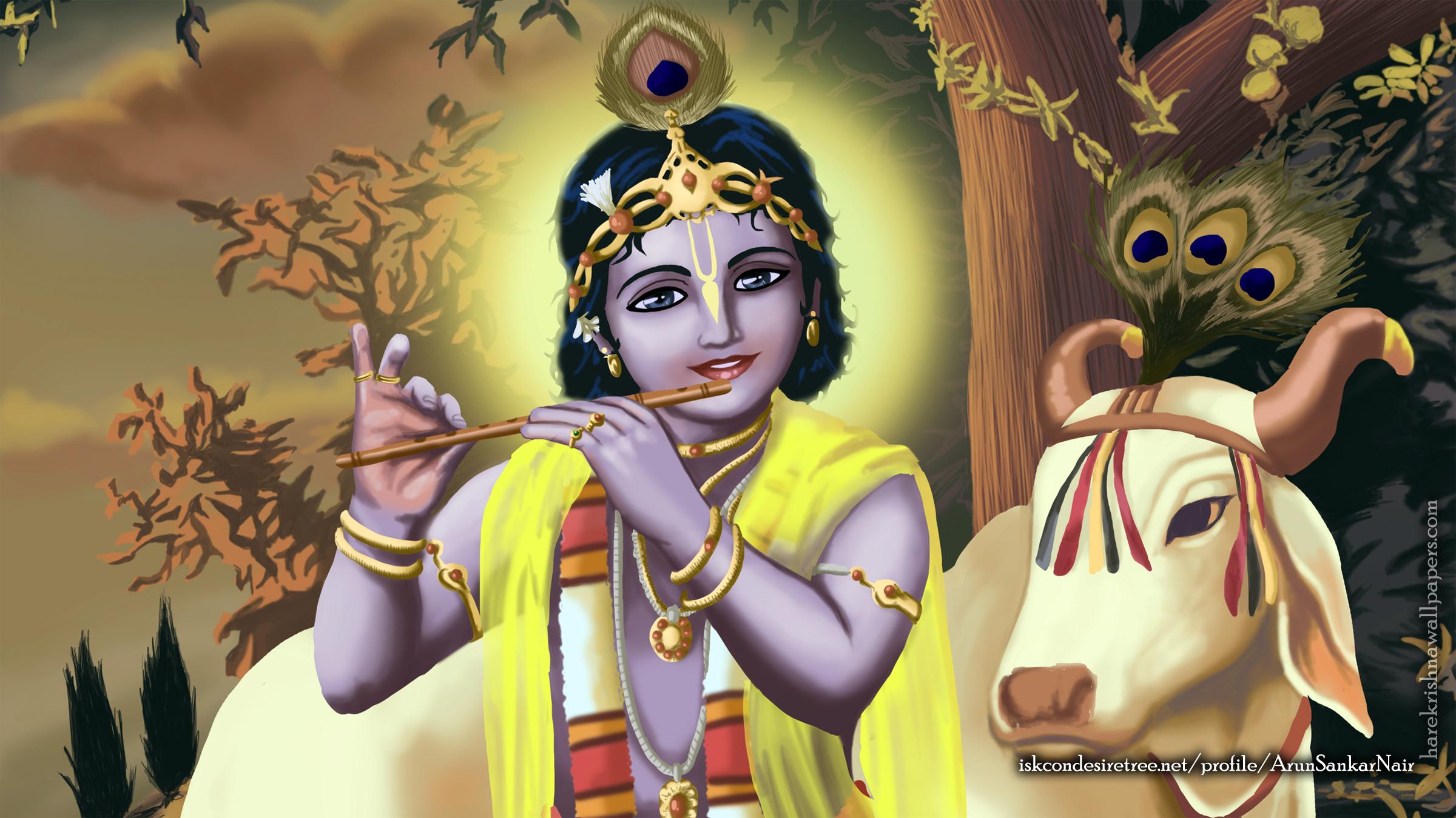 Krishna Wallpaper (019) Size 2400x1350 Download