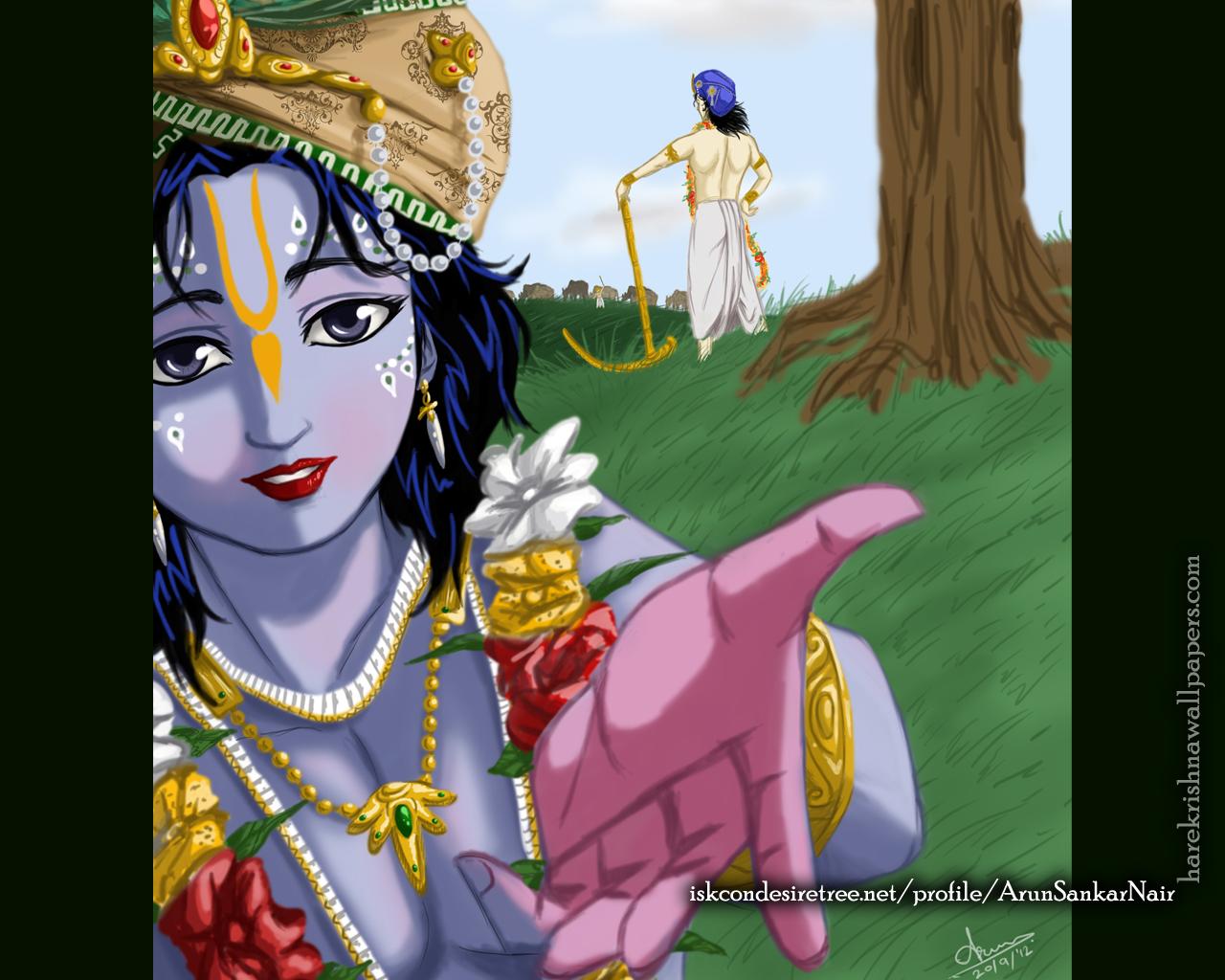 Krishna Wallpaper (025) Size 1280x1024 Download