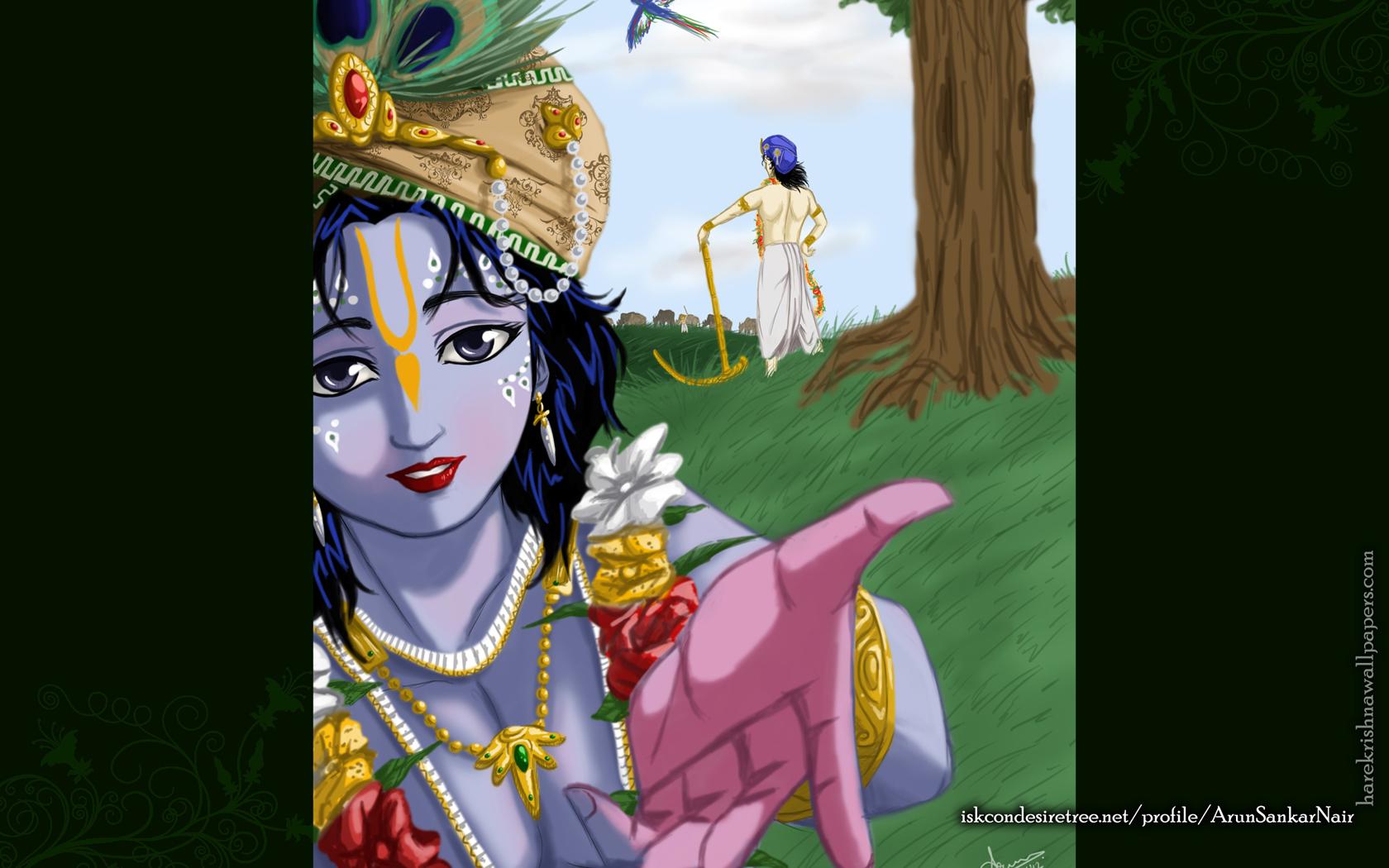 Krishna Wallpaper (025) Size 1680x1050 Download