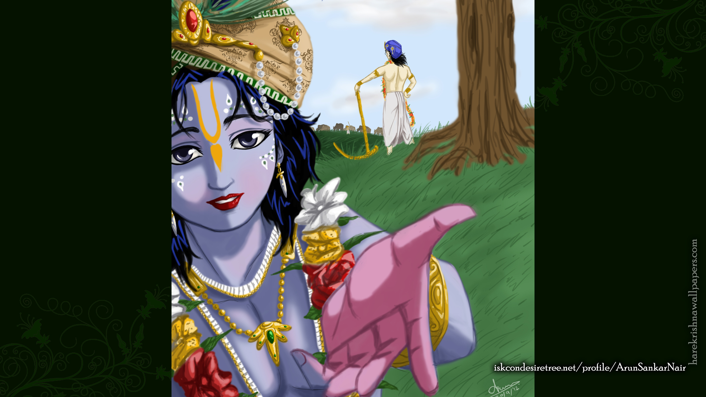 Krishna Wallpaper (025) Size 2400x1350 Download