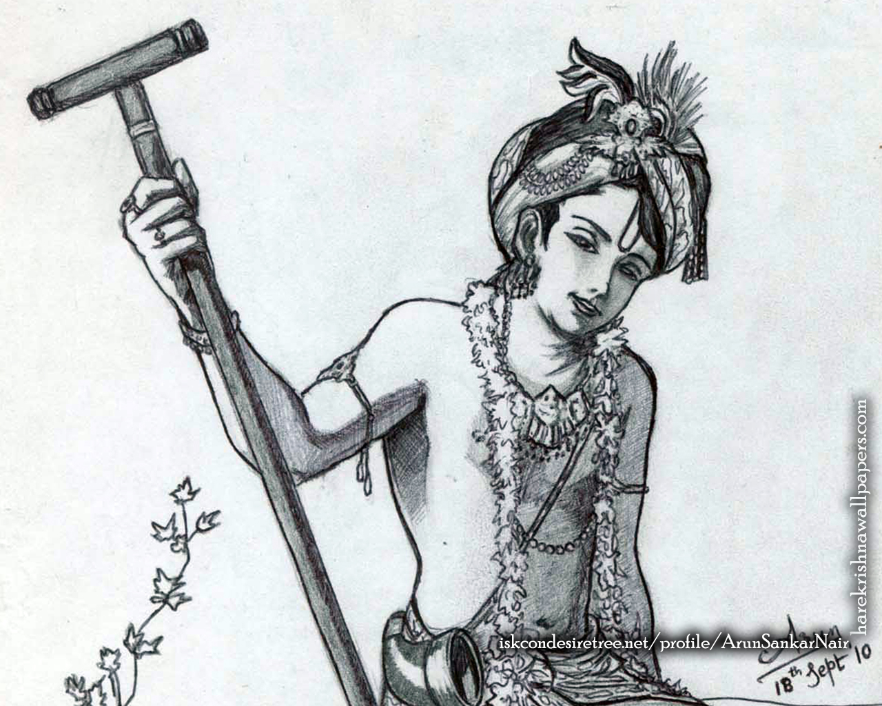 Krishna Wallpaper (029) Size 1280x1024 Download