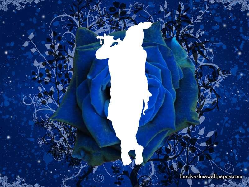 Blue Krishna Wallpaper (001)