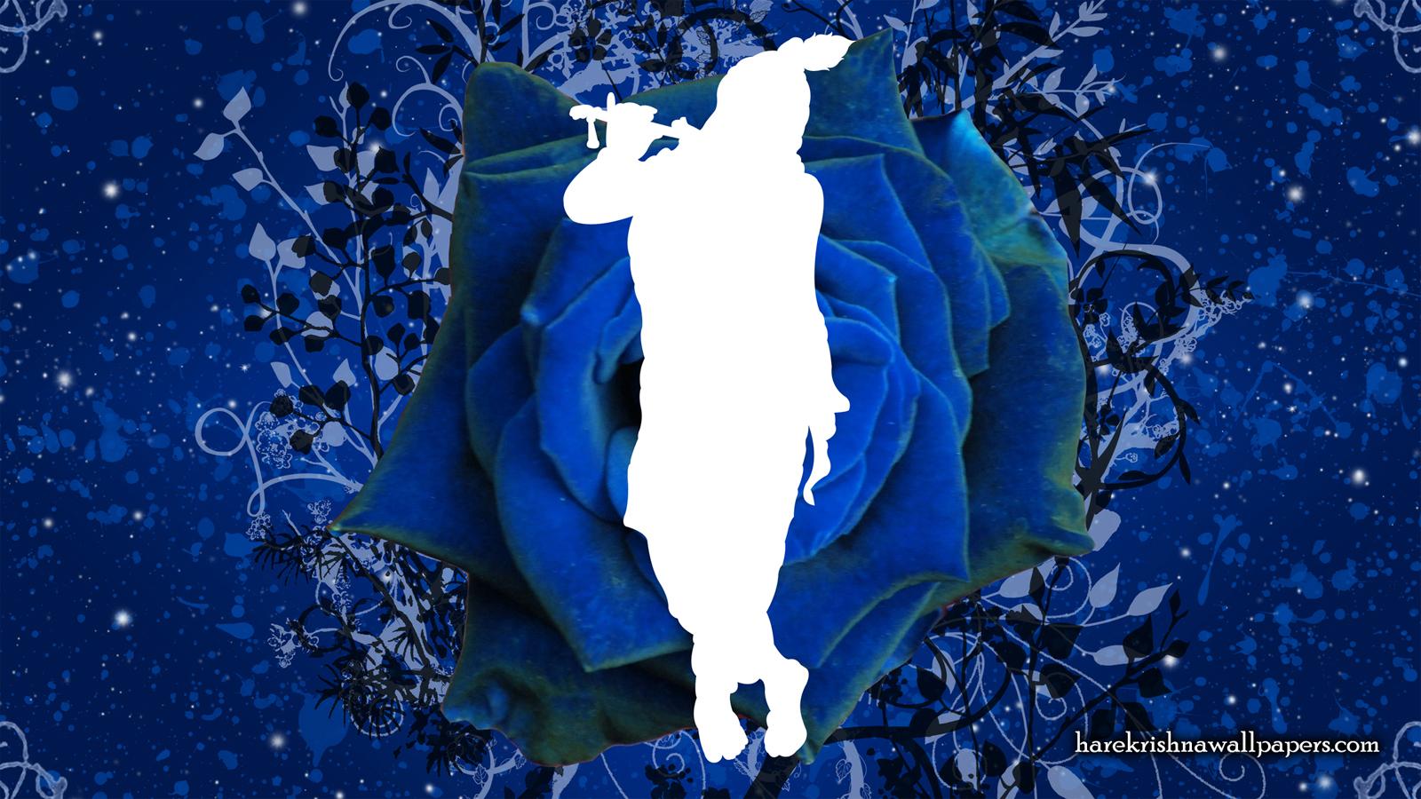 Blue Krishna Wallpaper (001) Size 1600x900 Download