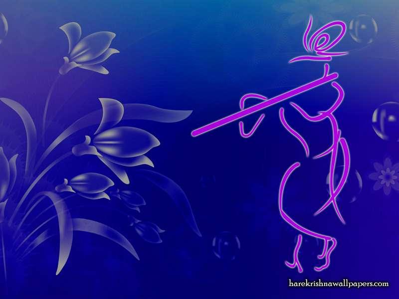 Krishna with Flute Wallpaper (001)