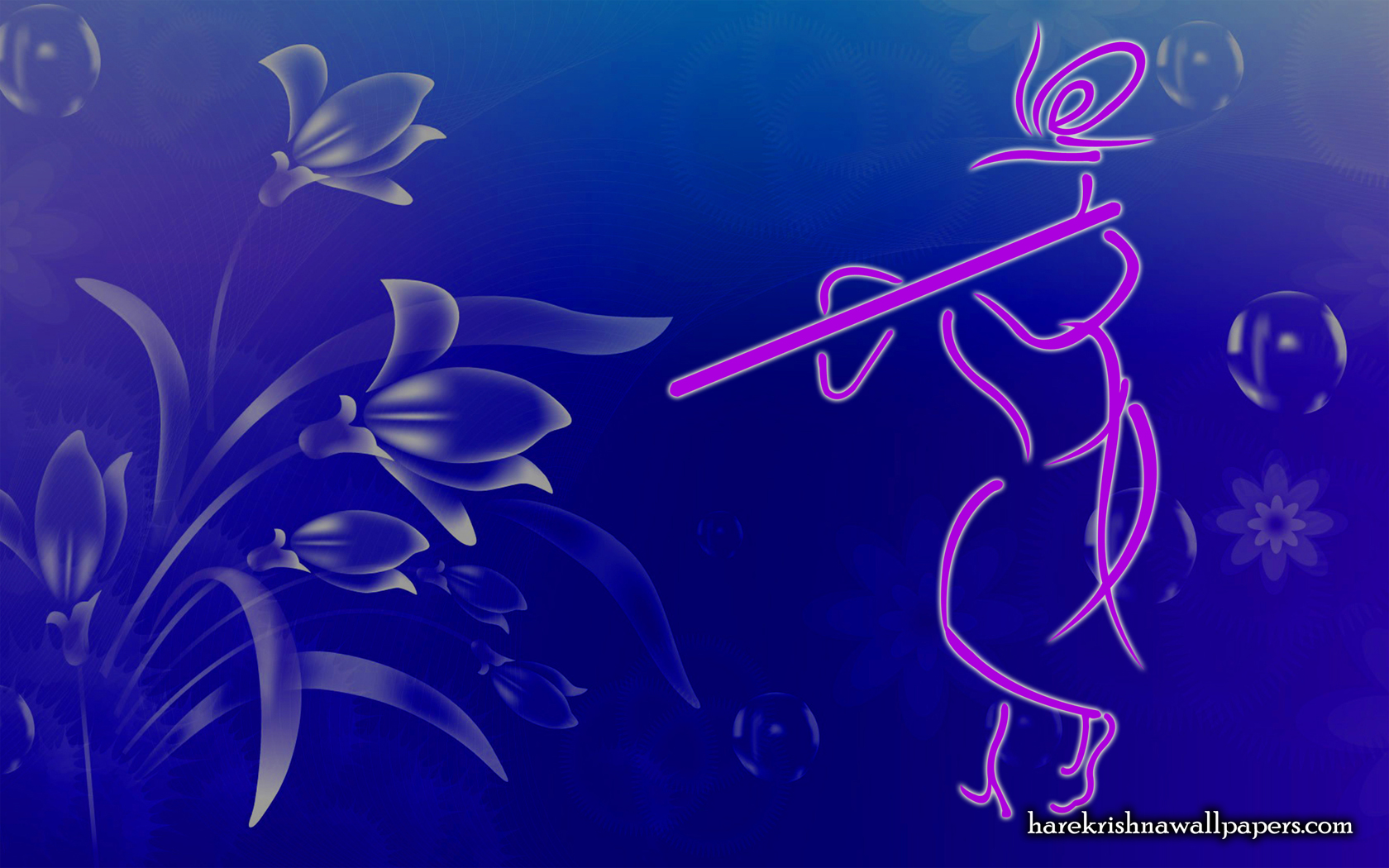 Krishna with Flute Wallpaper (001) Size 1680x1050 Download