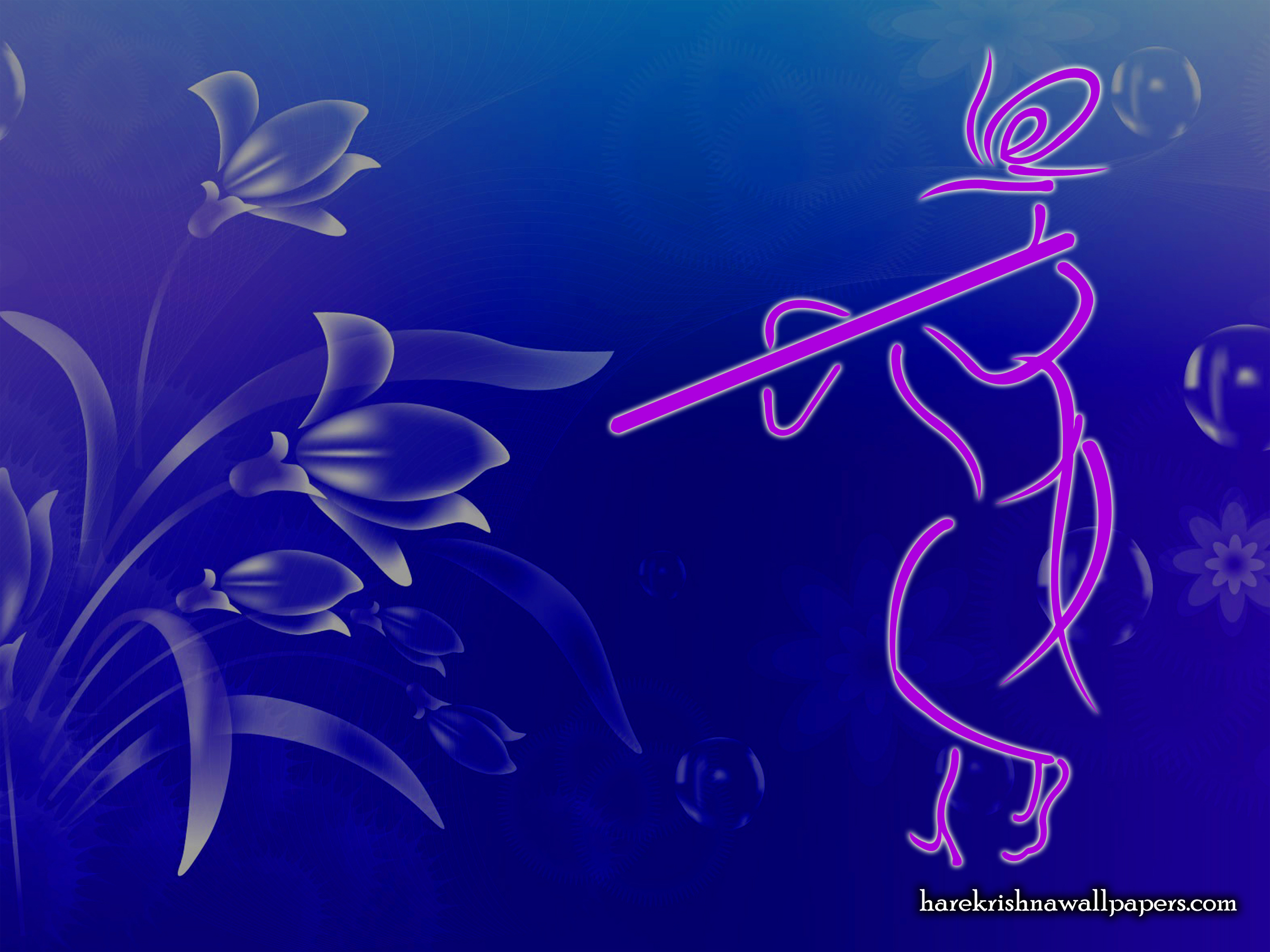 Krishna with Flute Wallpaper (001) Size 2400x1800 Download
