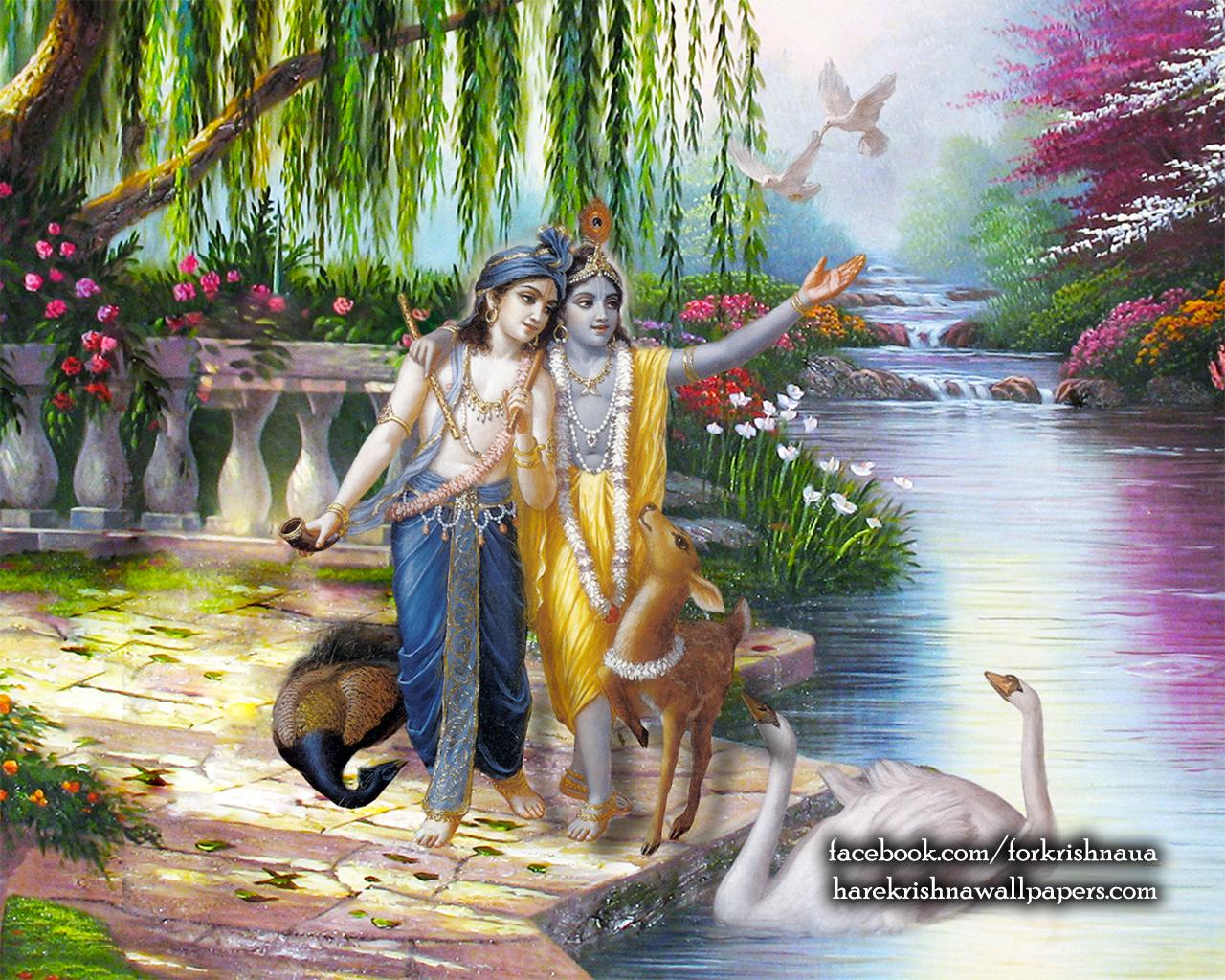 Krishna Balaram Wallpaper (003) Size 1280x1024 Download