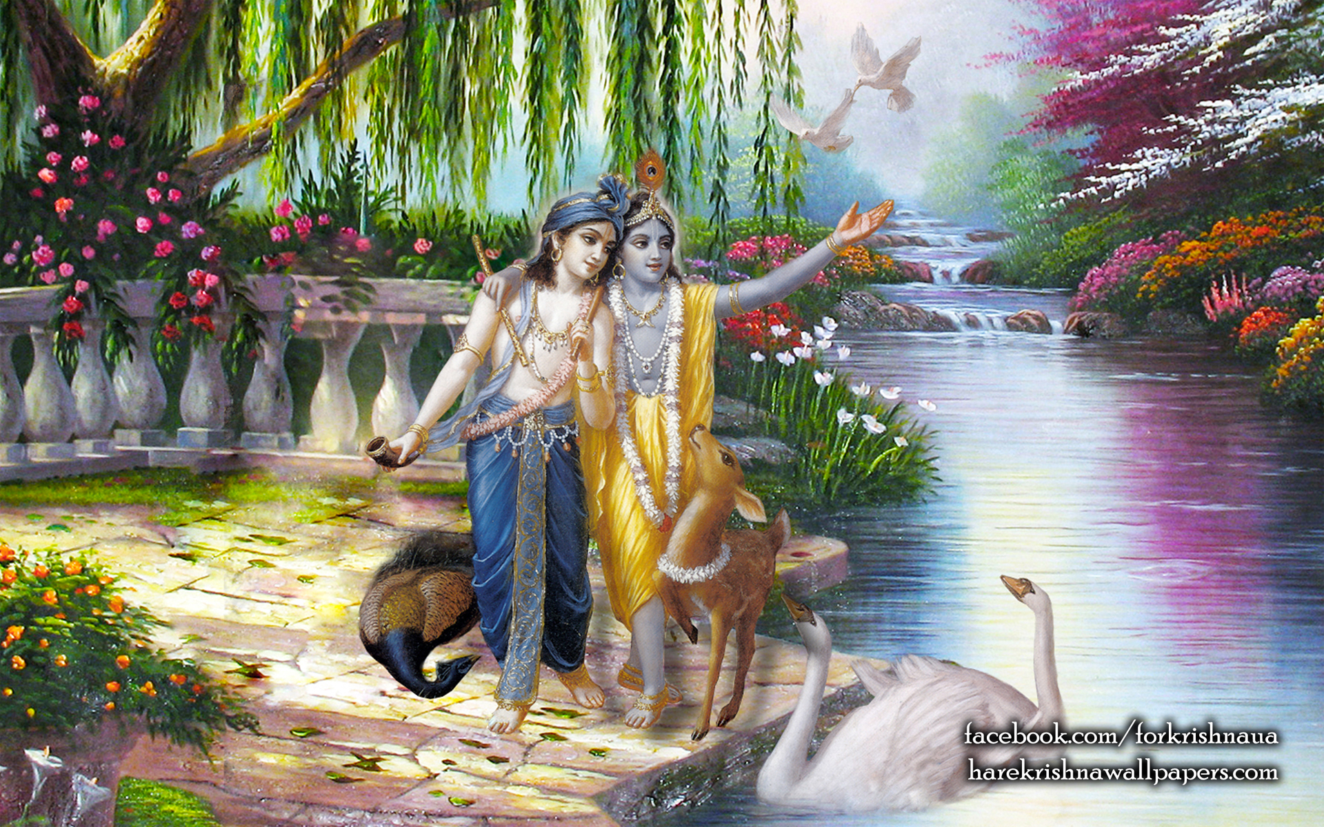Krishna Balaram Wallpaper (003) Size 1920x1200 Download