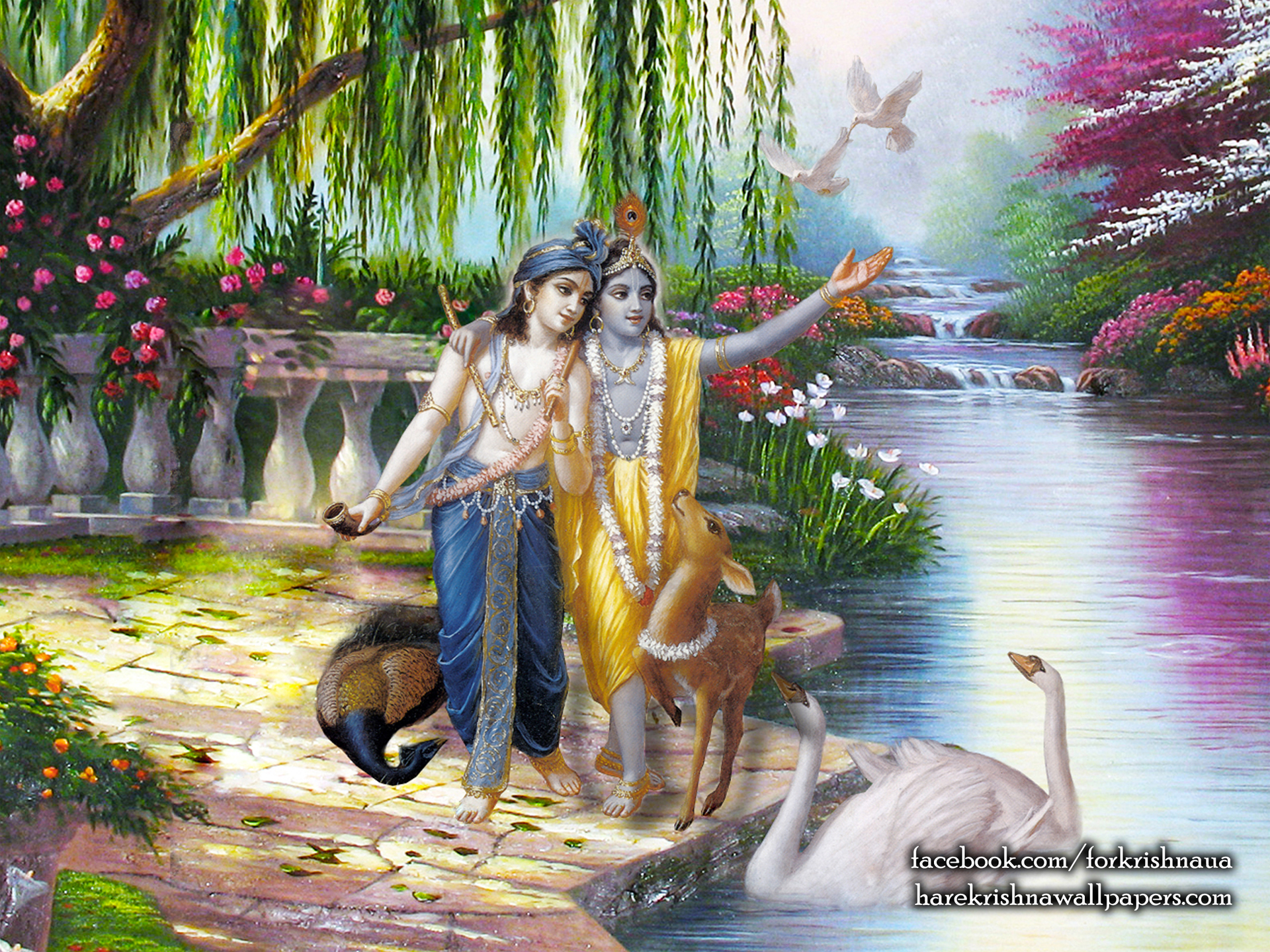 Krishna Balaram Wallpaper (003) Size 1920x1440 Download